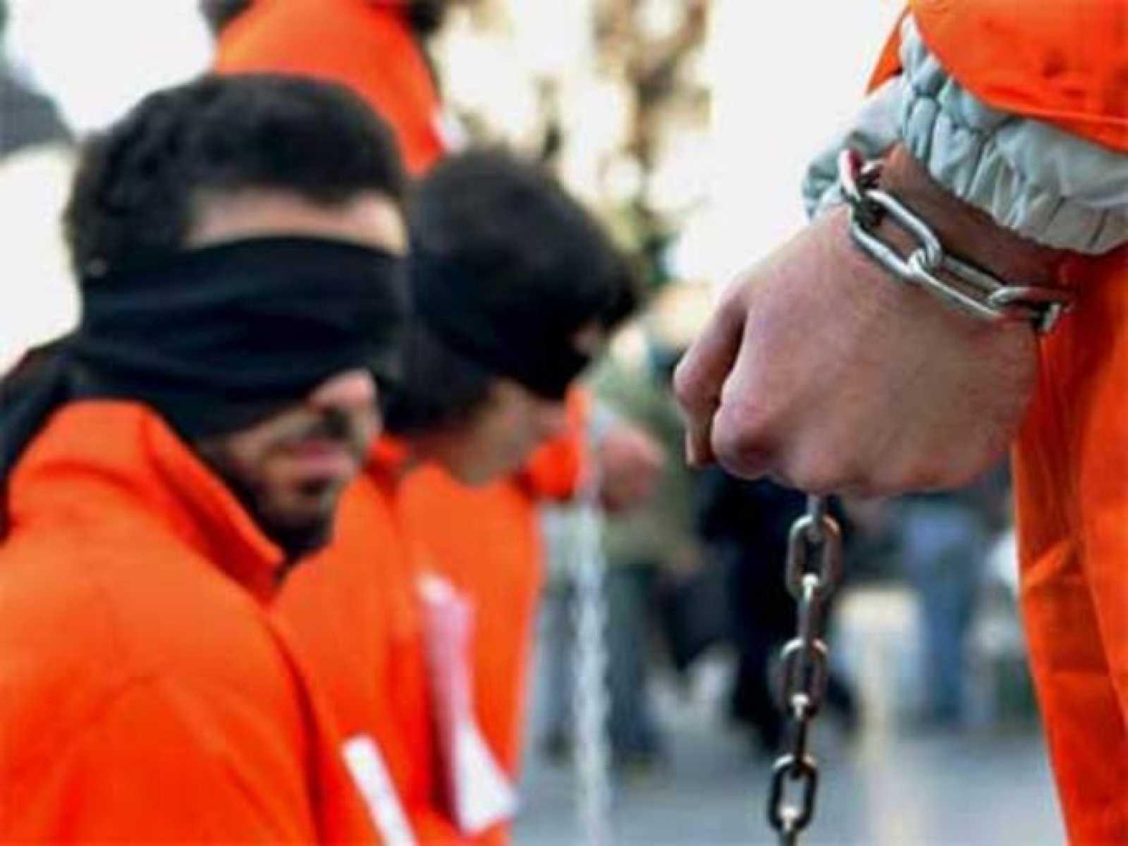 Foto de archivo de los presos de la base de Guantánamo