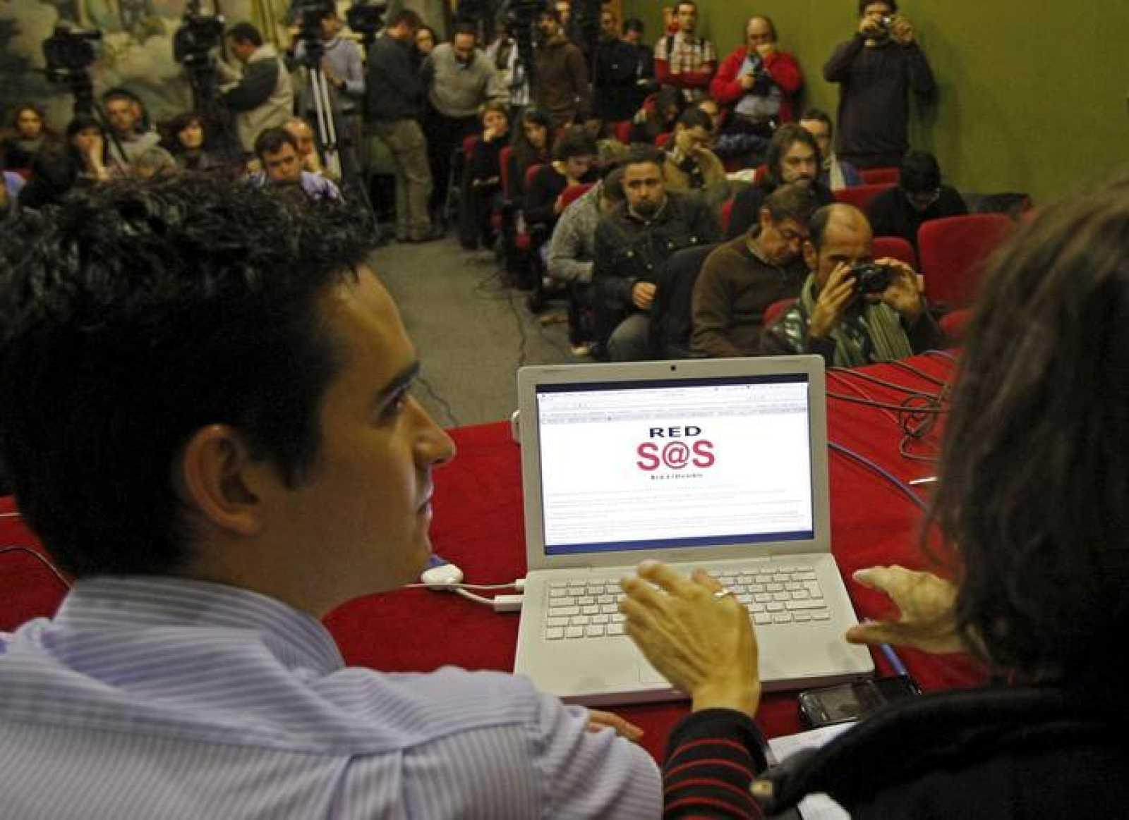 La rueda de prensa donde se ha presentado Red SOStenible, en respuesta a las medidas del Gobierno para proteger la propiedad intelectual.