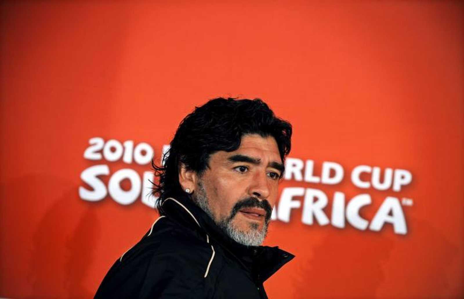 El técnico de la selección de Argentina, Diego Maradona