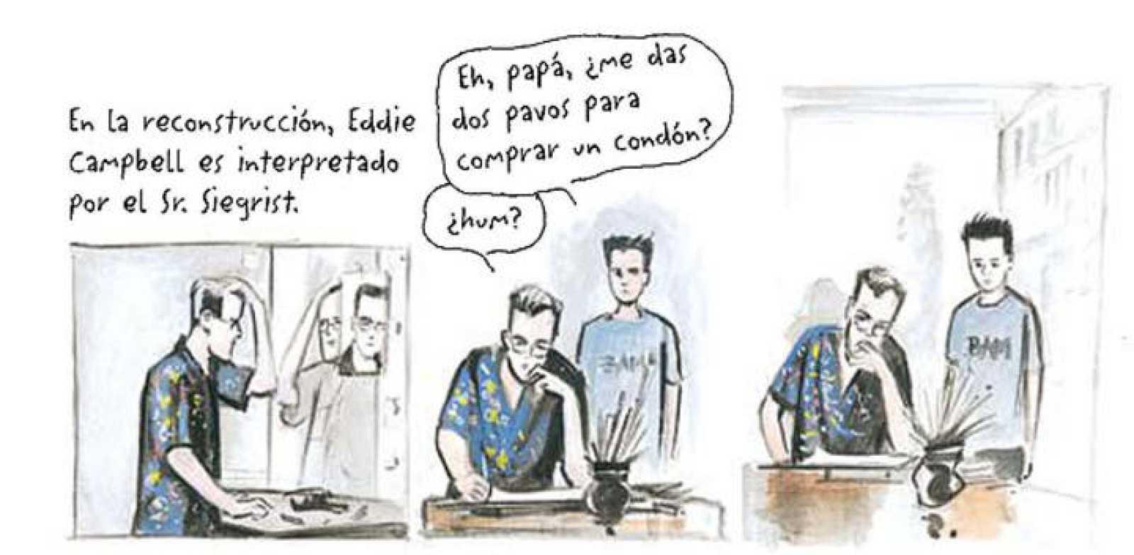 Viñetas de 'El destino del artista' de Eddie Campbell