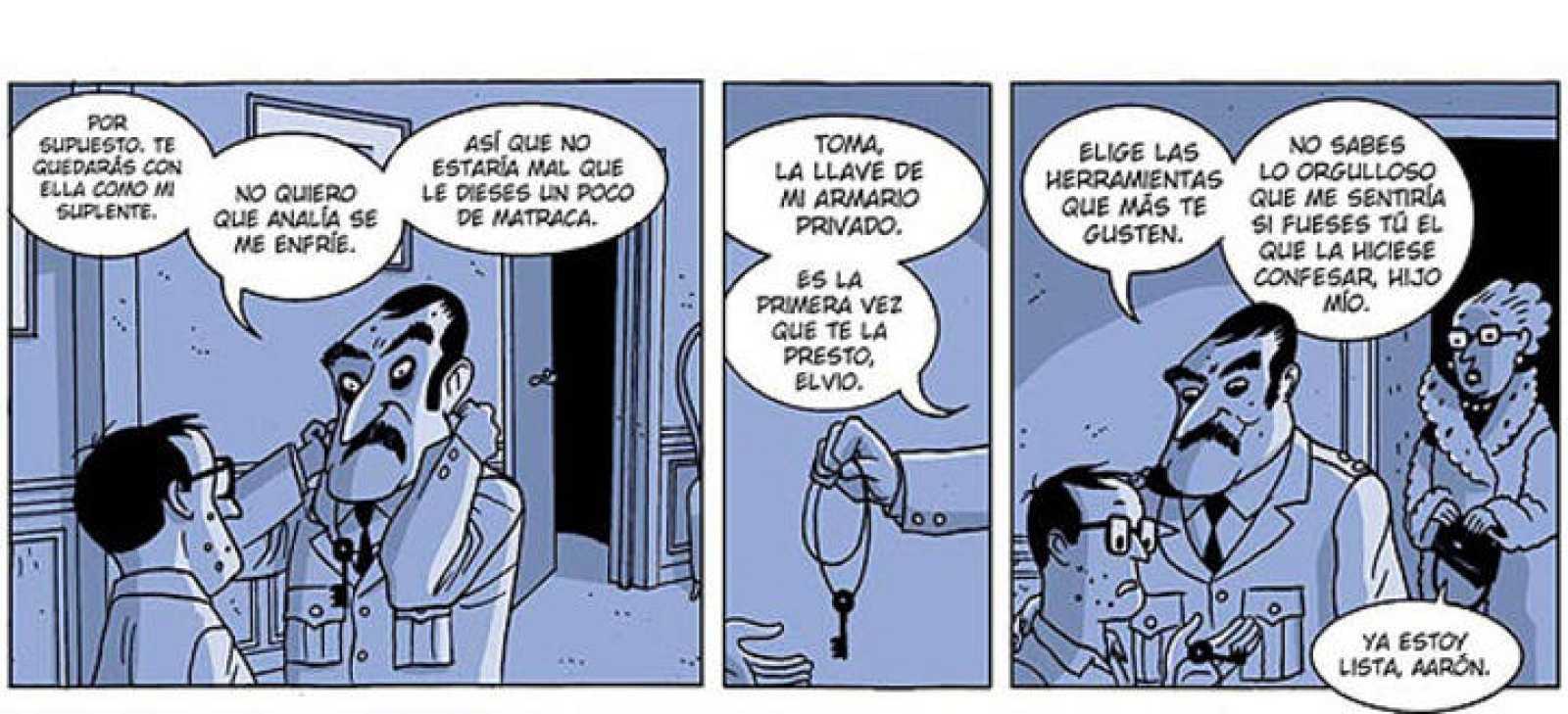 Viñetas de 'La herencia del Coronel', de Carlos Trillo y Lucas Varela