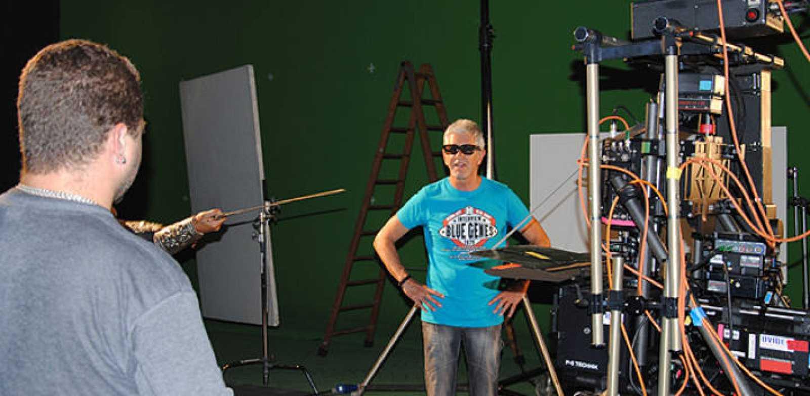 Antonio Hernández trabajando en el proceso de 3D de 'El Capitán Trueno'