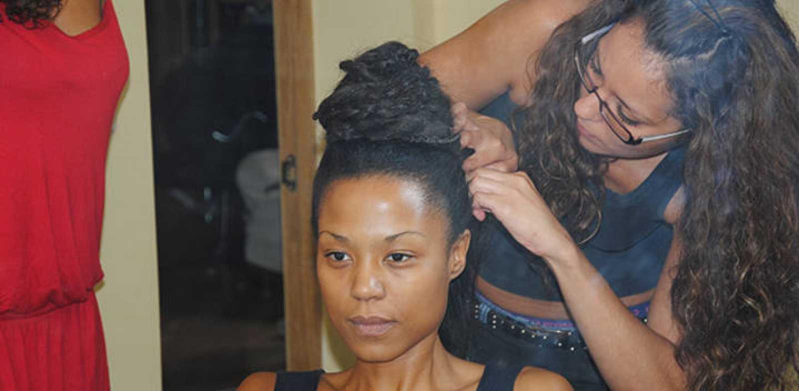 Jennifer Rope en las pruebas de peluquería de 'El Capitán Trueno'