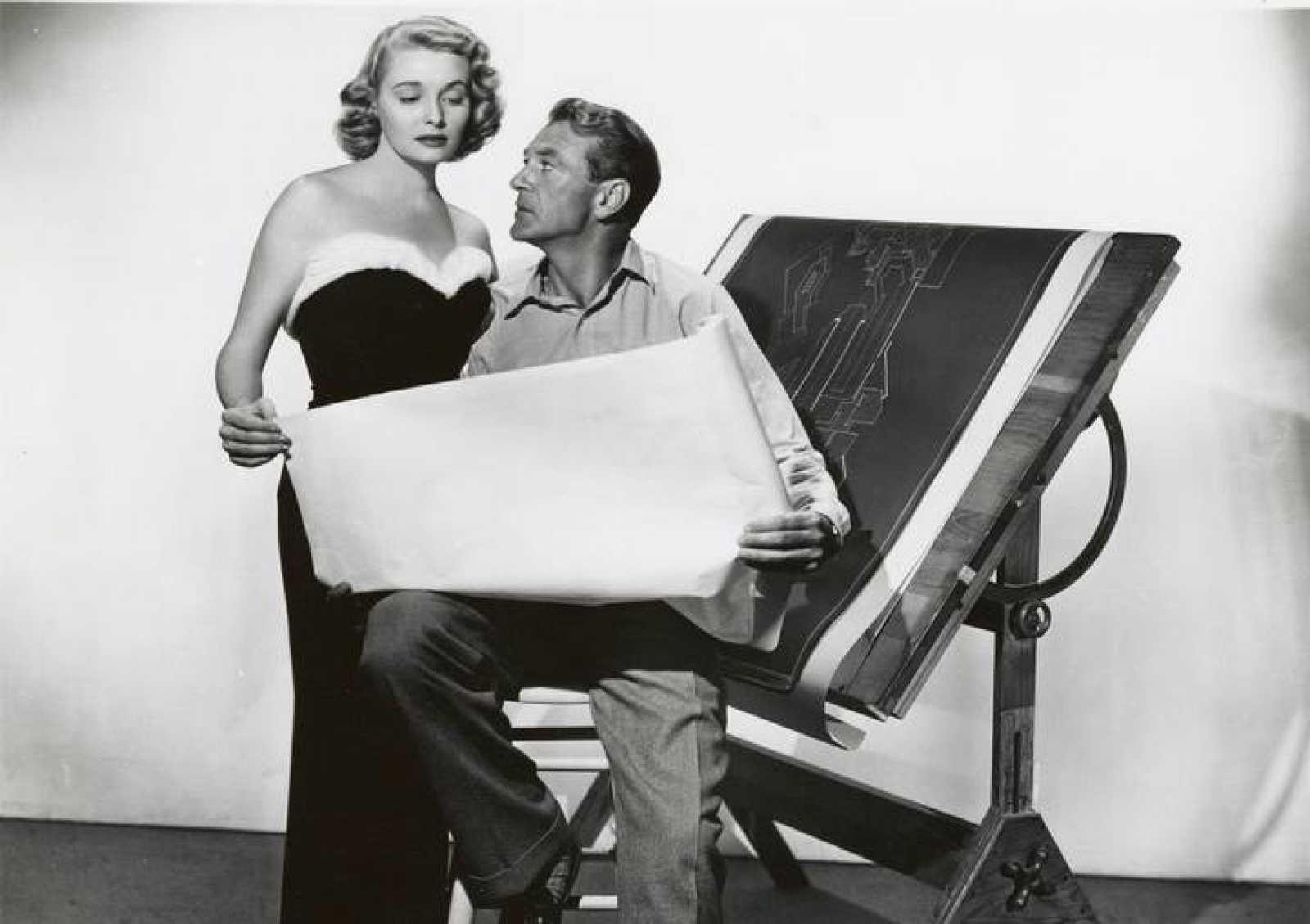 Patricia Neal y Gary Cooper, en 'El manantial', de King Vidor