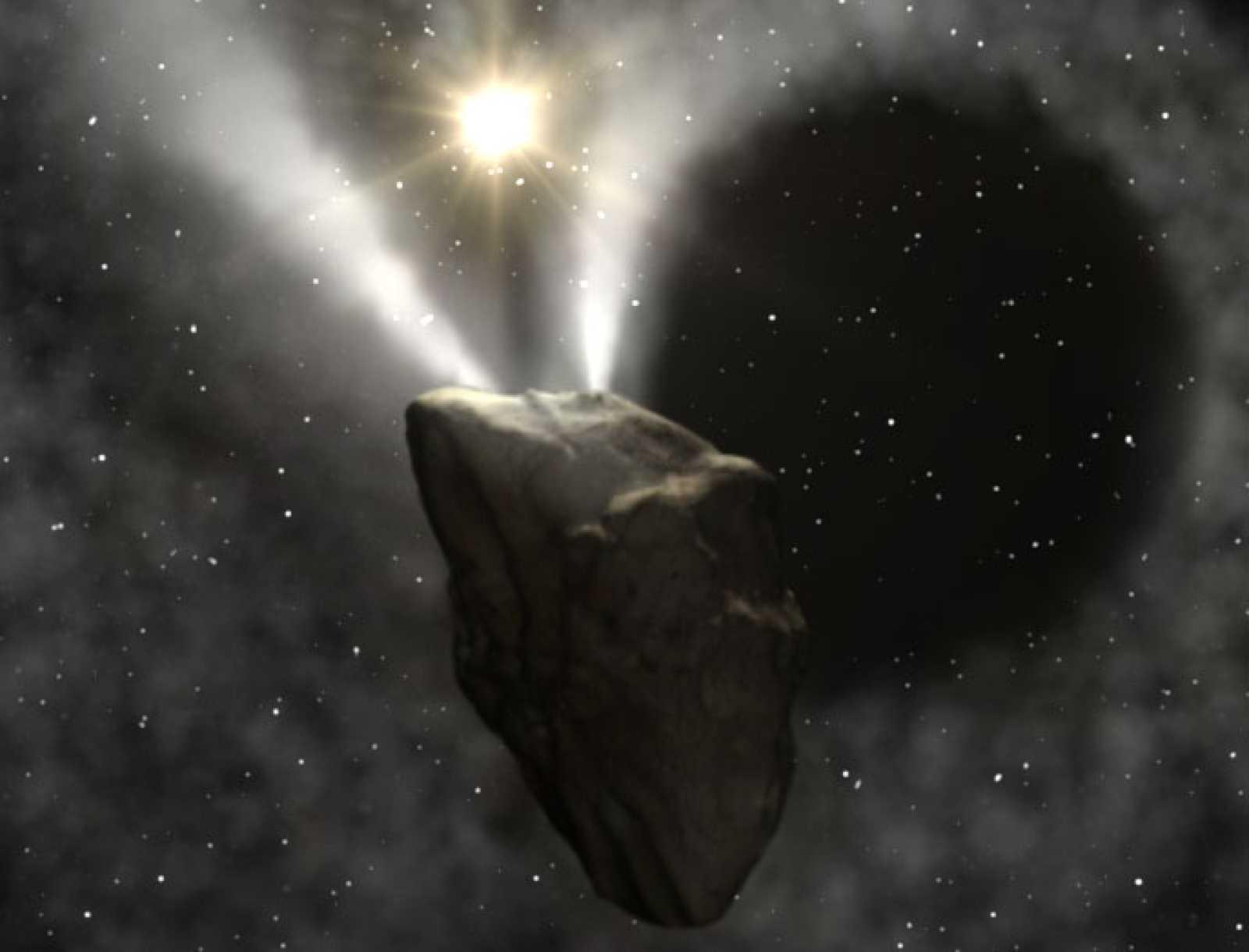 El cometa periódico 29P/Schwassmann-Wachmann 1, ubicado entre Júpiter y Saturno y con una órbita casi circular alrededor del Sol
