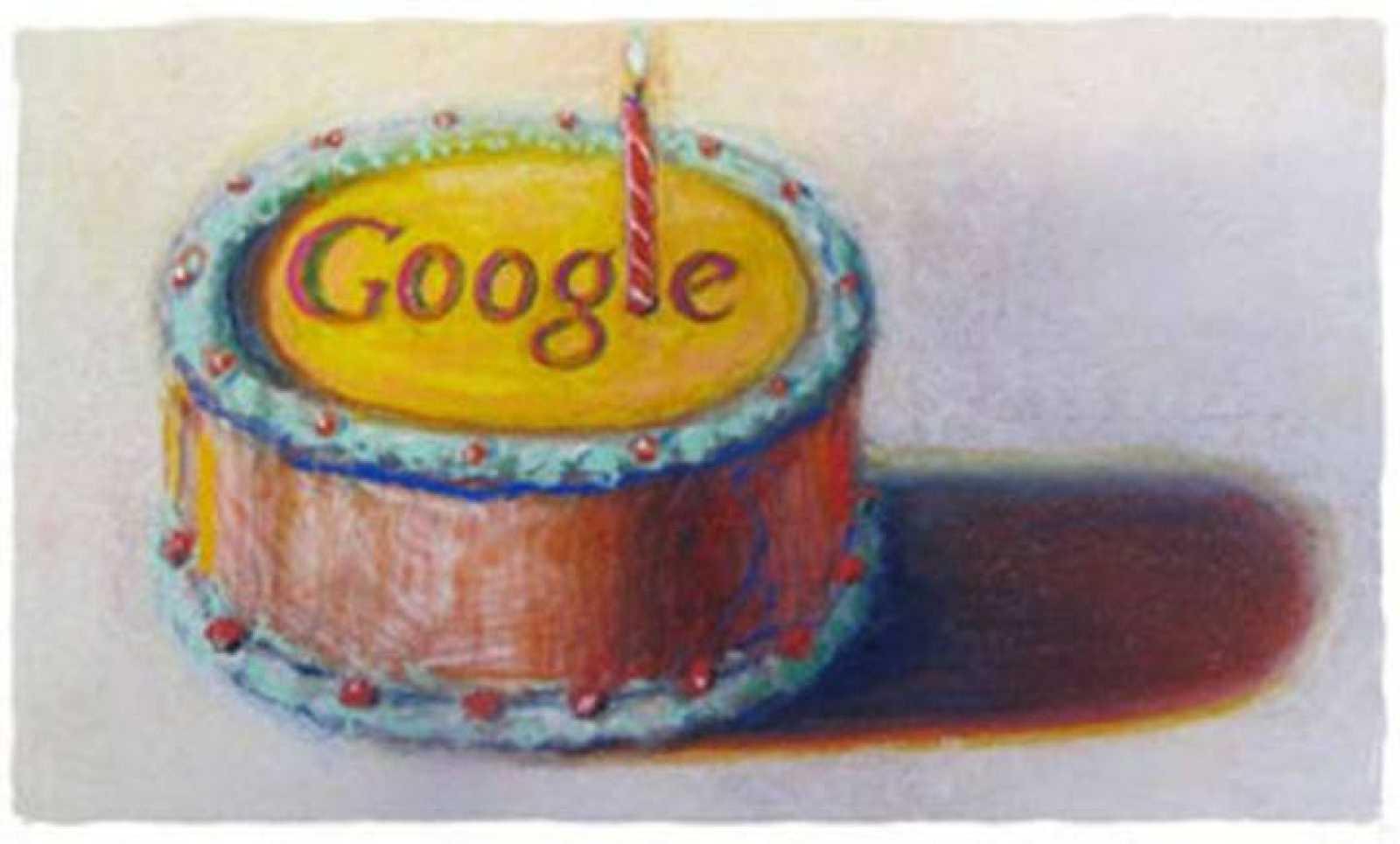 Google celebra su 12 cumpleaños con un pastel diseñado por el pintor pop Wayne Thiebaud