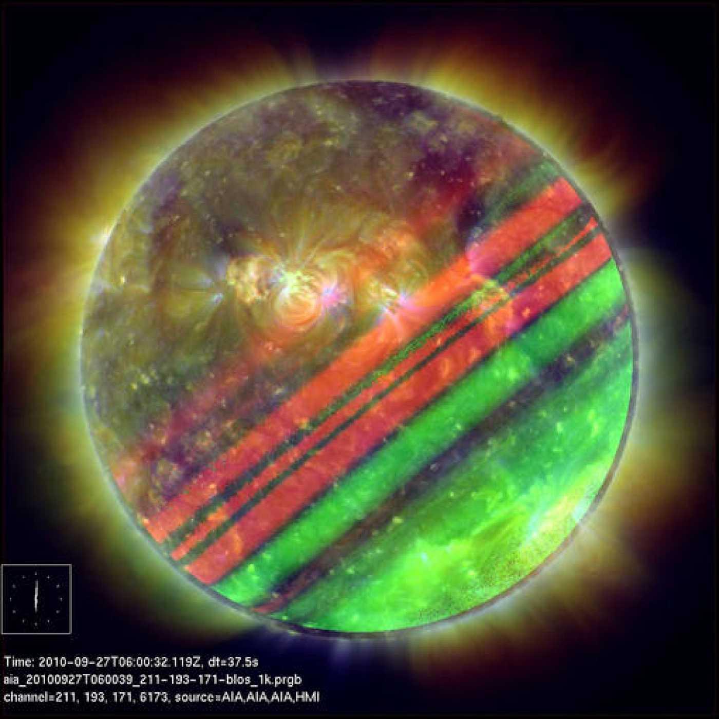El Sol-Júpiter, una imagen captada por el Observatorio de Dinámicas Solares (SDO) durante el eclipse con la Tierra.