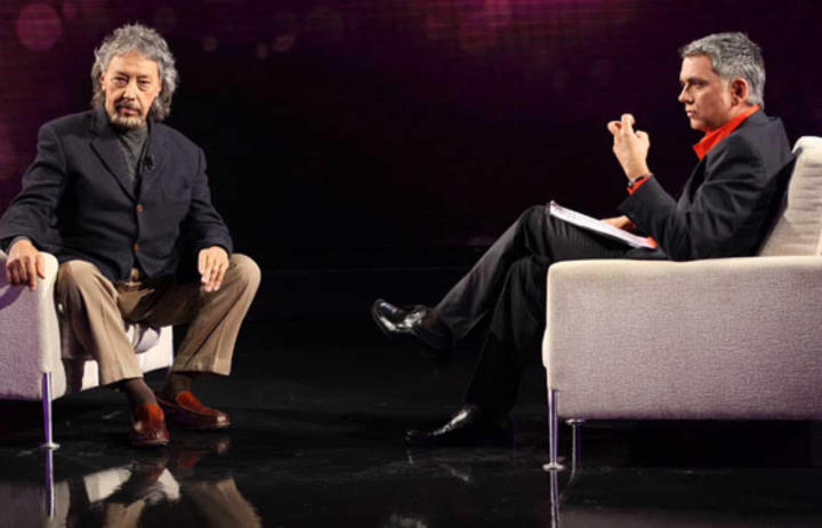 Lluís Llongueras, junto a Juan Ramón Lucas, en el programa 'En noches como ésta'