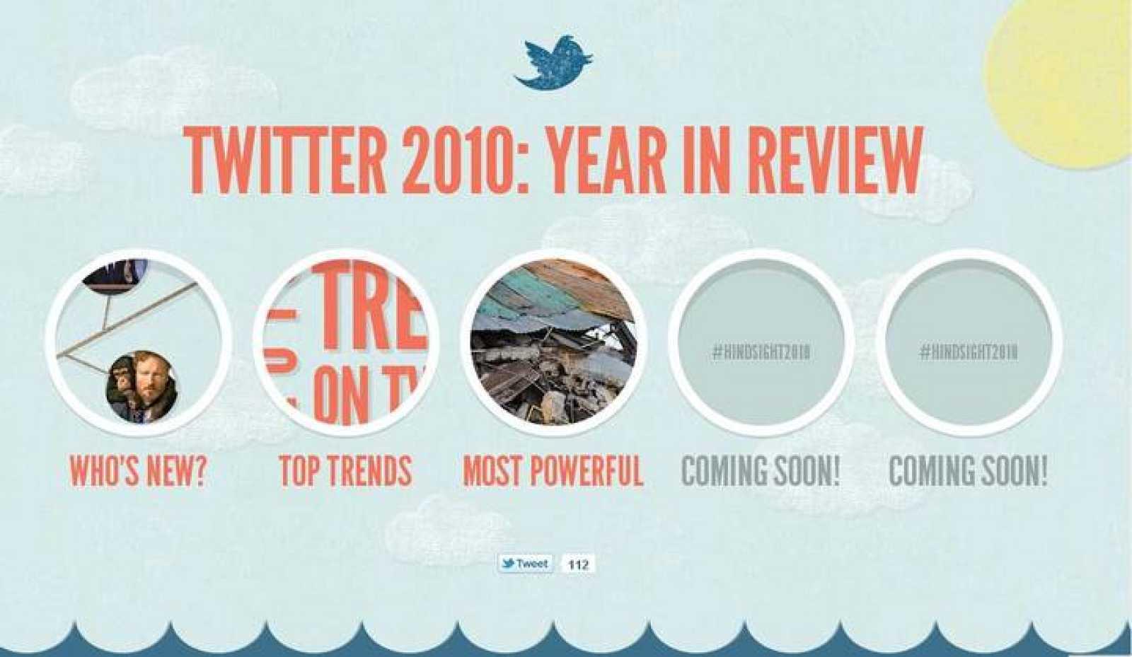 Twitter publica los temas más comentados de 2010 y los 'tuits' más poderosos