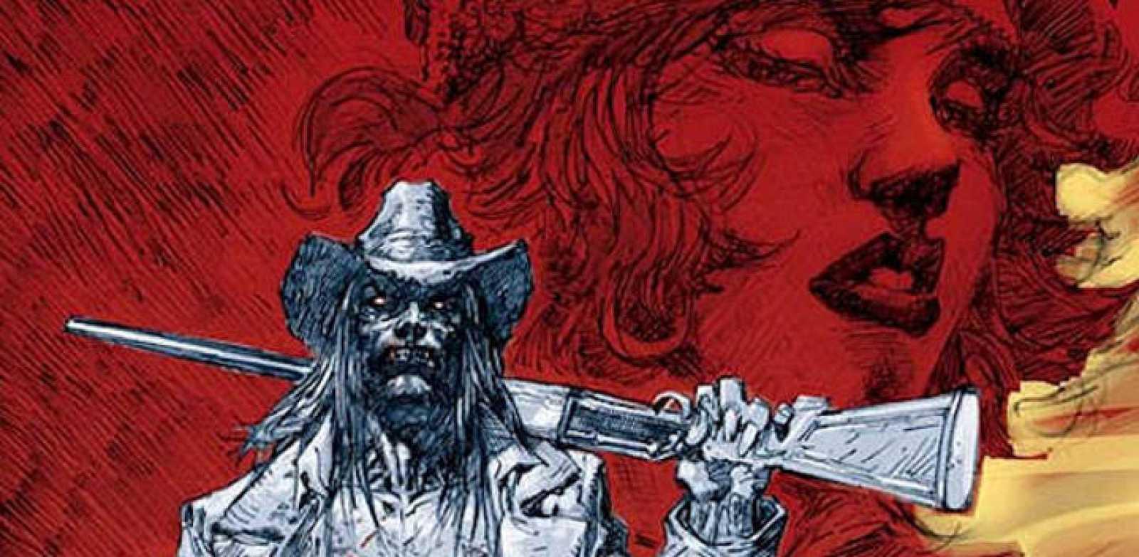 Detalle de una portada de JIm Lee para 'American Vampire'