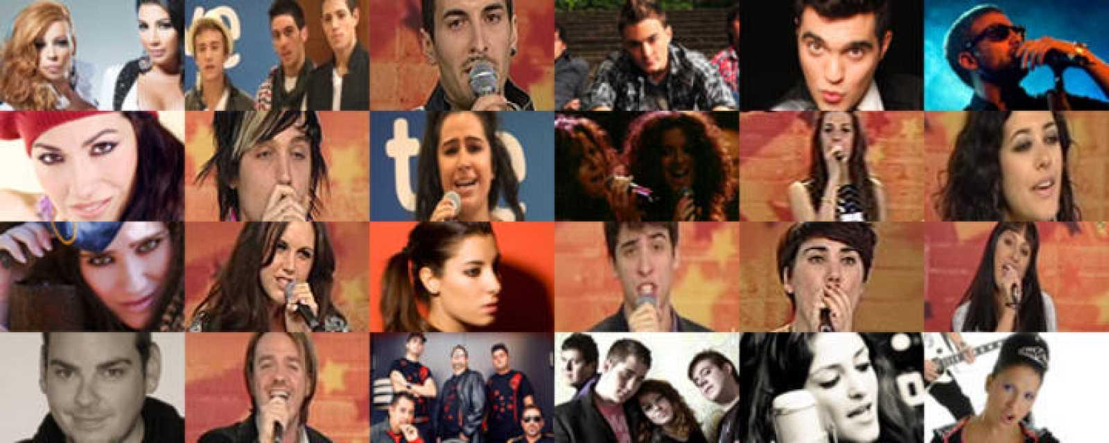 Los 24 finalistas de Eurovisión