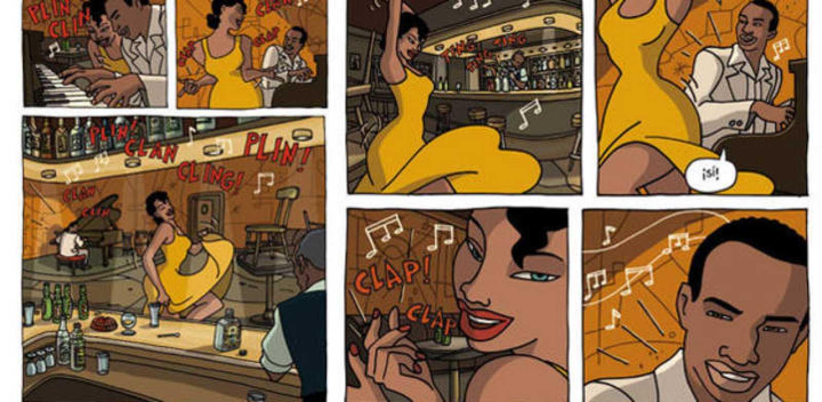 Viñetas del cómic 'Chico y Rita', de Mariscal y Trueba