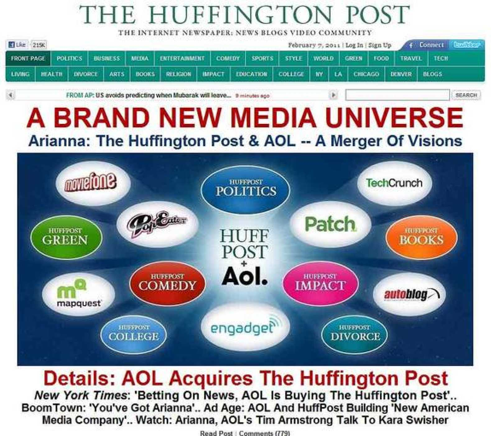 The Huffington Post tiene 25 millones de usuarios únicos mensuales