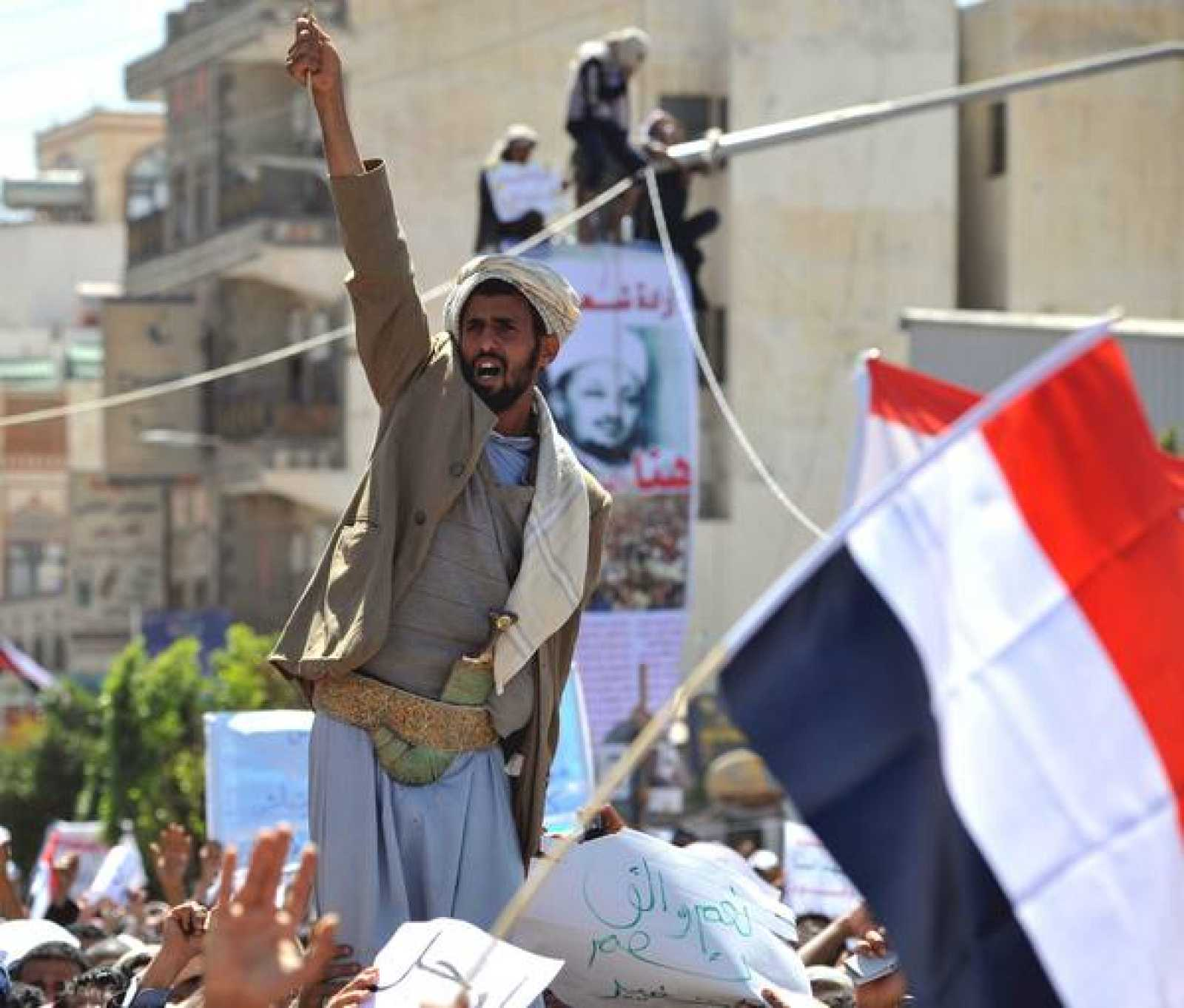 Manifestación en Saná, capital de Yemen, contra el Gobierno de Ali Abdalá Saleh