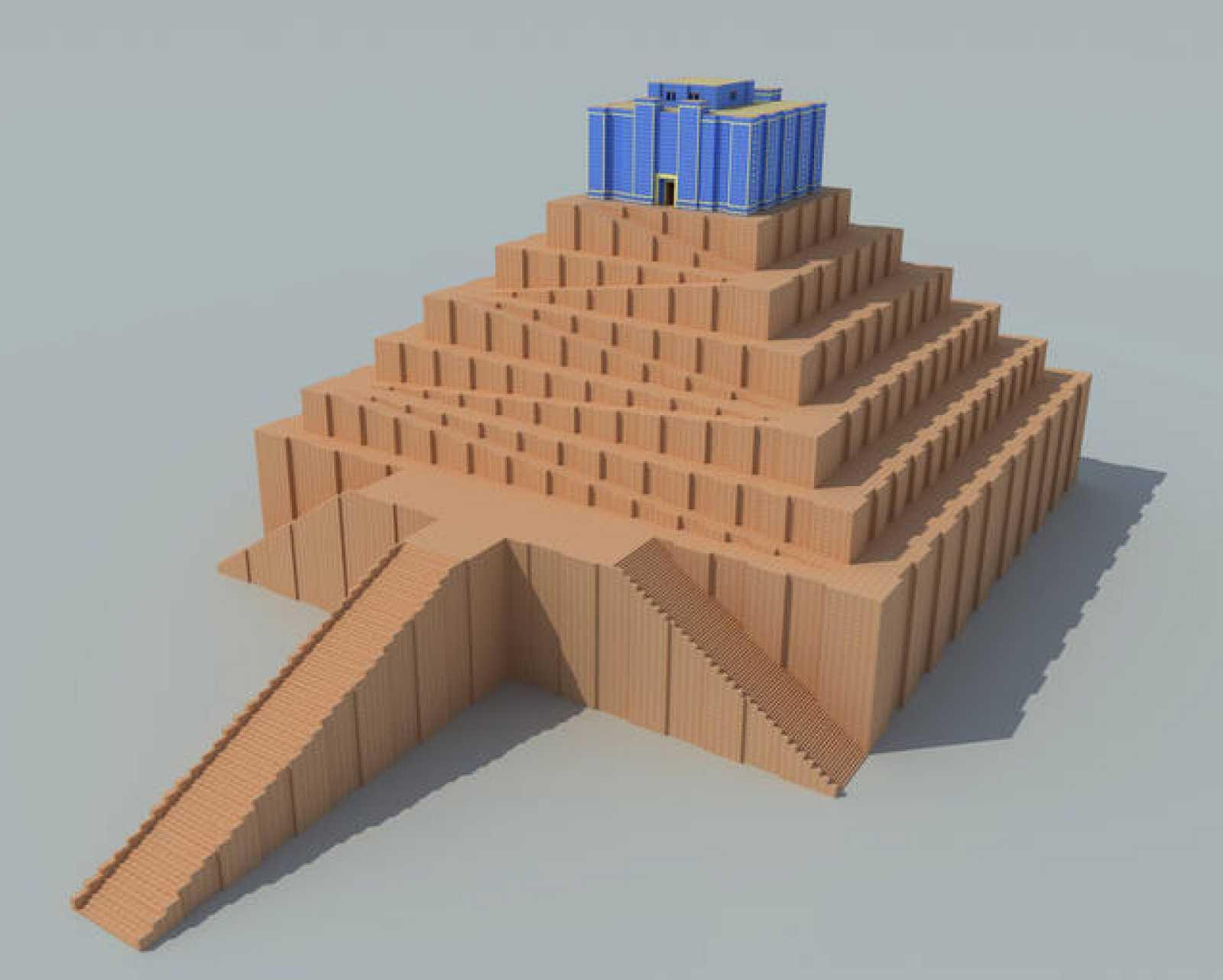 Maqueta que recrea la hipótesis española sobre el aspecto de la Torre de Babel