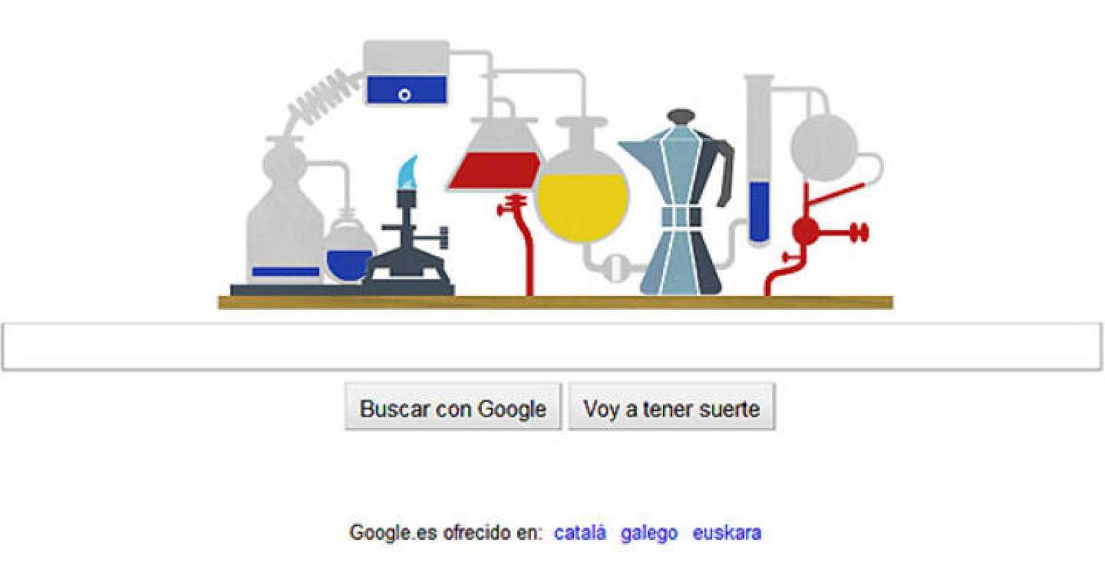 El logo de Google homenajea al químico Robert Bunsen y su invento más conocido, el mechero de Bunsen
