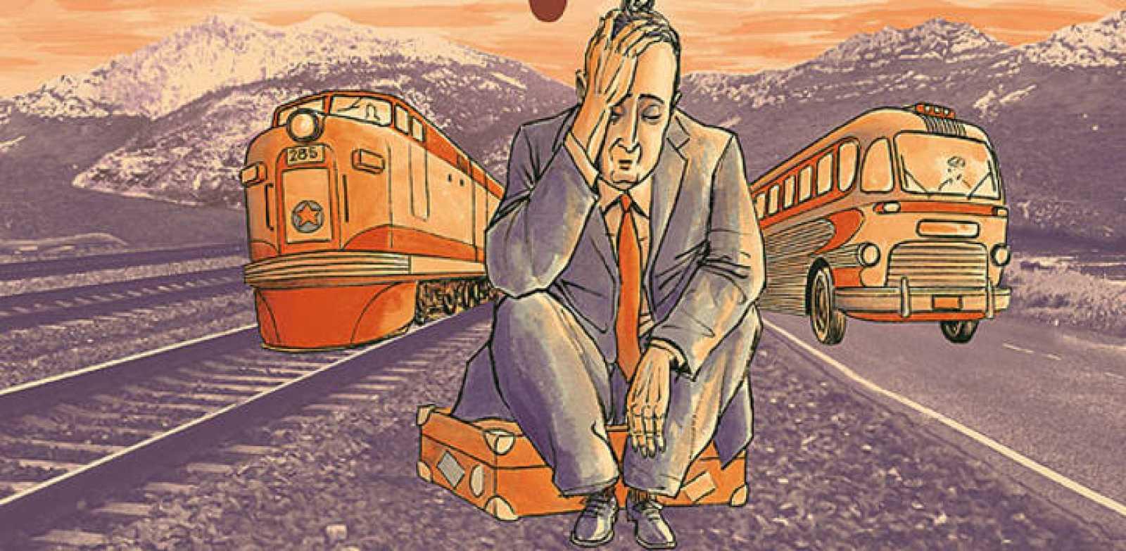 Detalle de la portada de 'Agencia de viajes Lemming', de José Carlos Fernandes