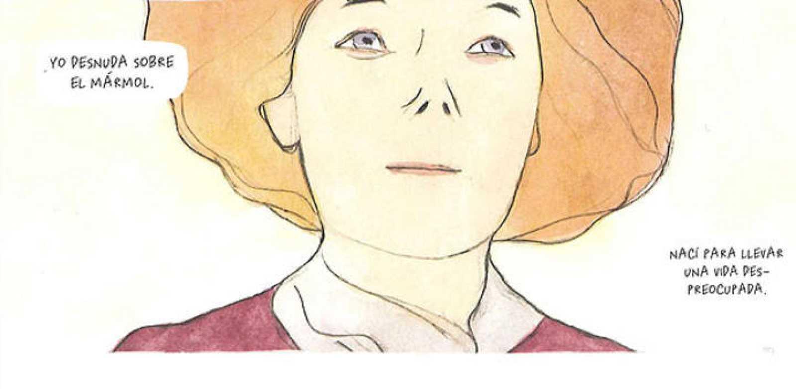 Viñeta de 'La señorita Else', de Manuele Fior