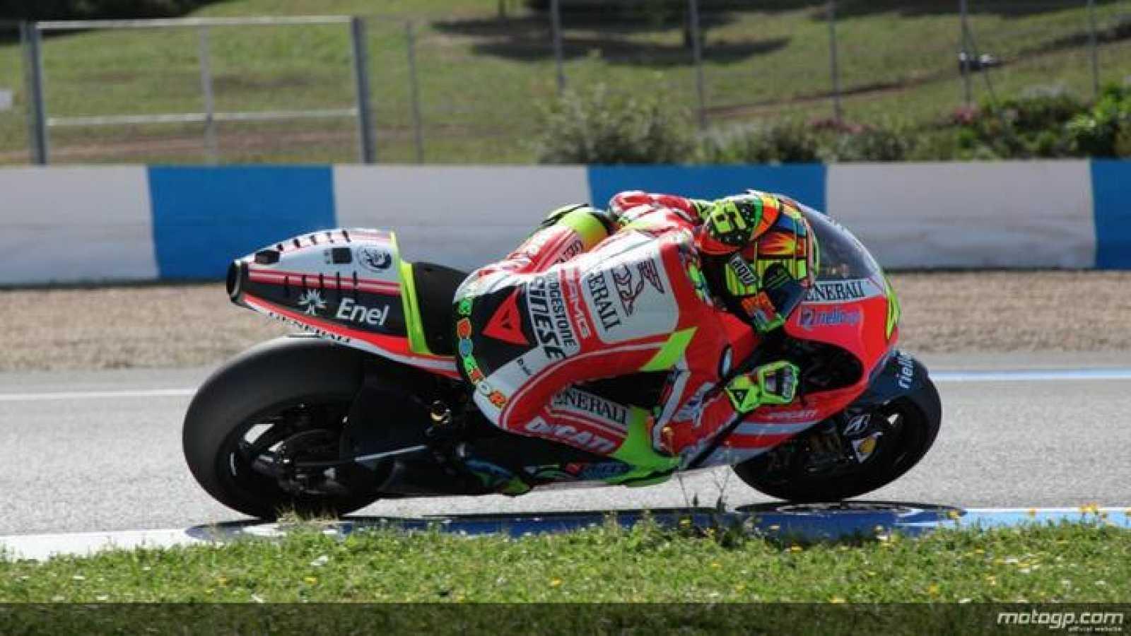 Rossi con la Ducati GP12