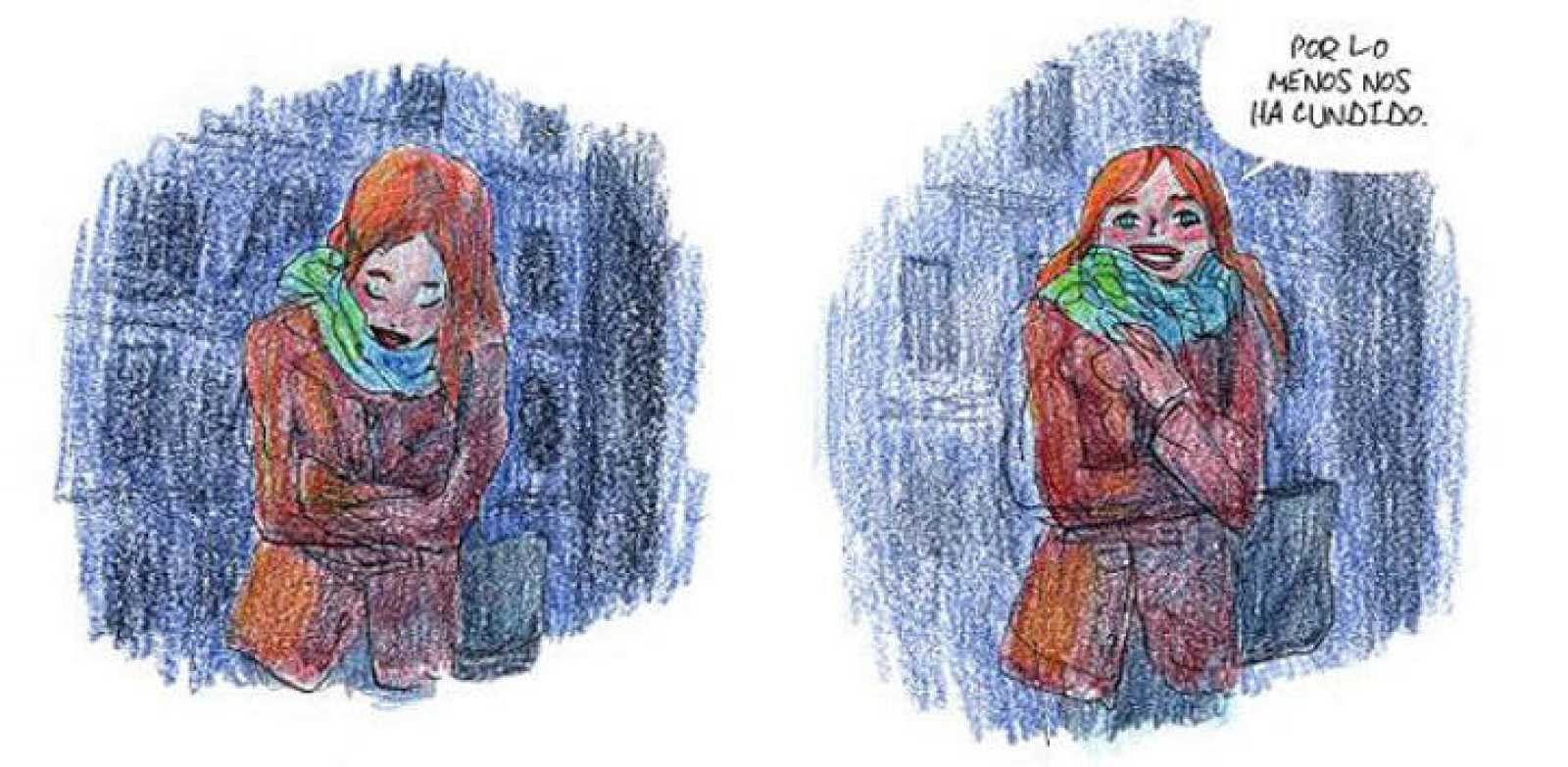 Viñetas de 'En mis ojos', de Bastién Vivés