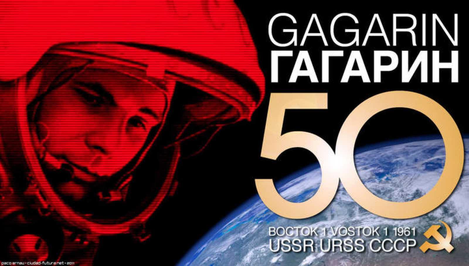 lustración conmemorativa para el 50º Aniversario del vuelo de Gagarin y 'La Yuriesfera'