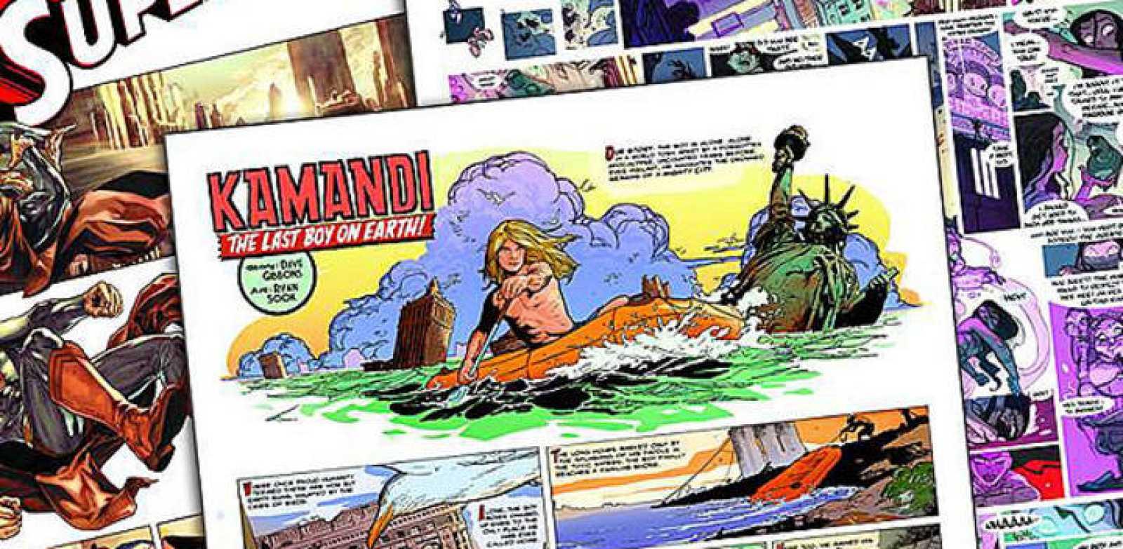 Páginas de 'Wednesday Comics'