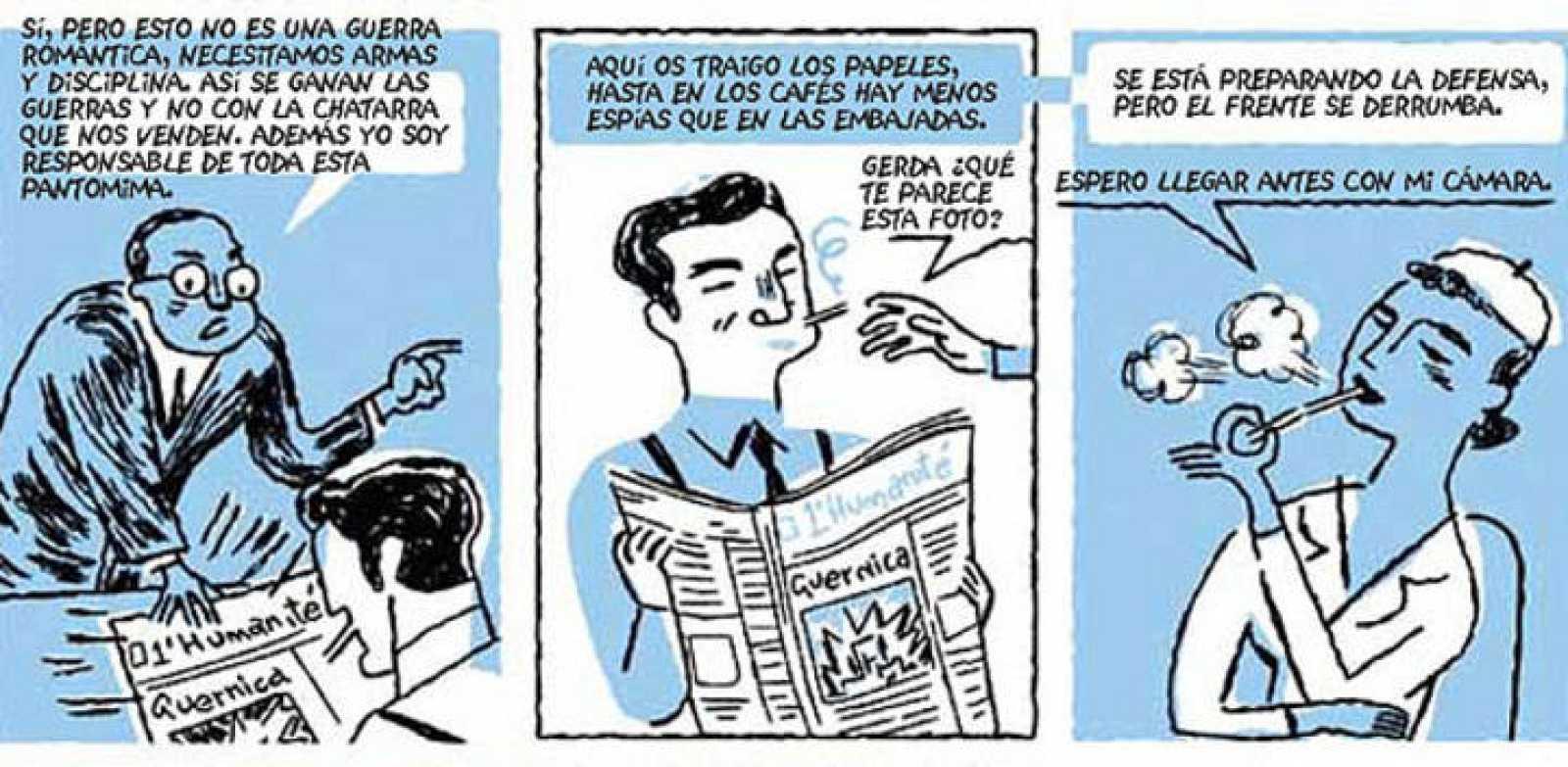 Viñetas de 'Tristísima ceniza', de Mikel Begoña e Iñaket