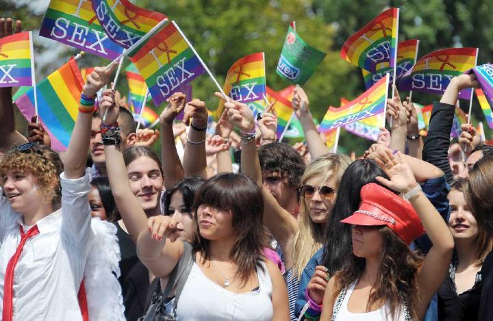 Foto de archivo de una manifestación a favor de los derechos de los homosexuales