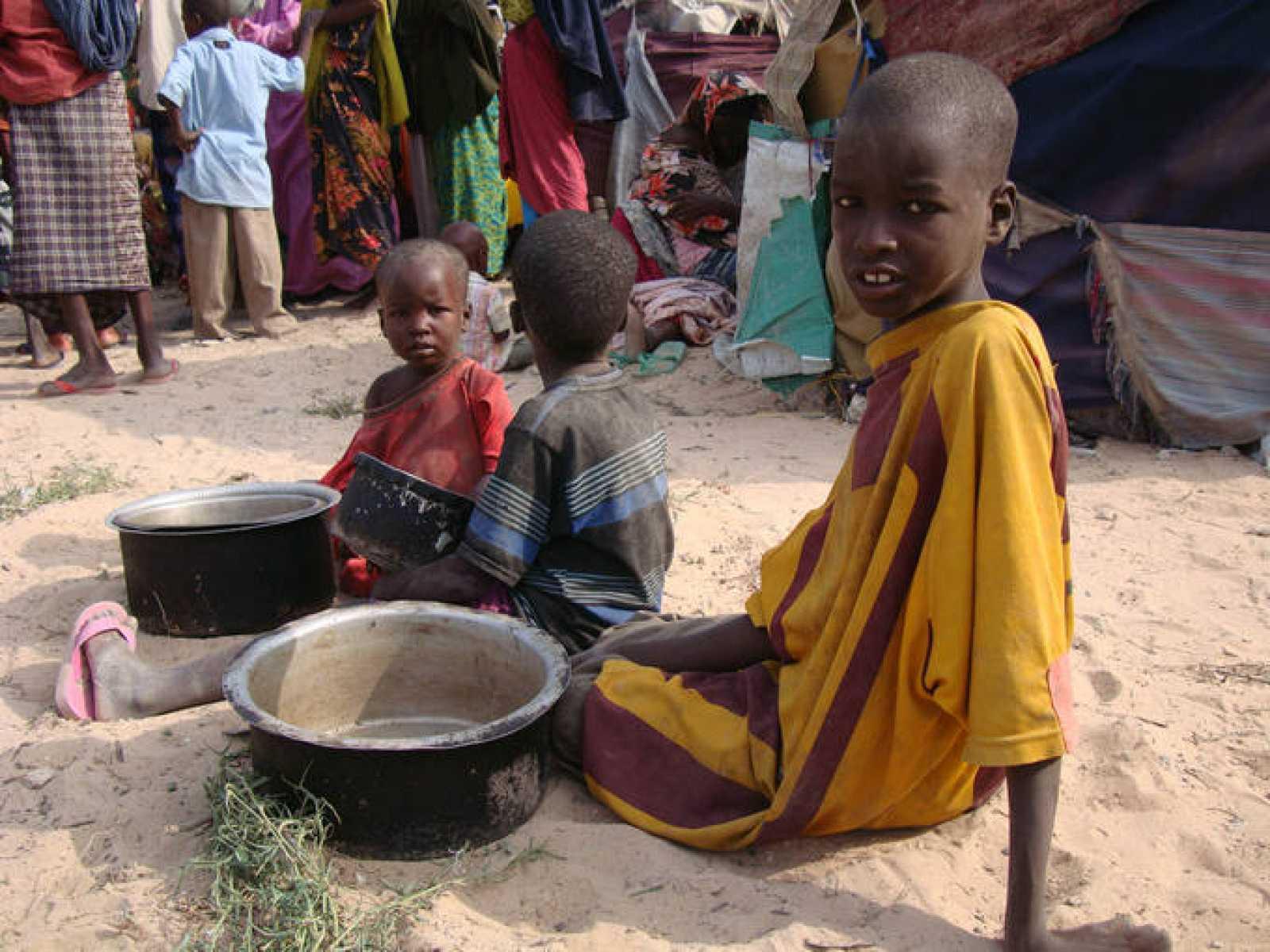 Niños desplazados en Somalia