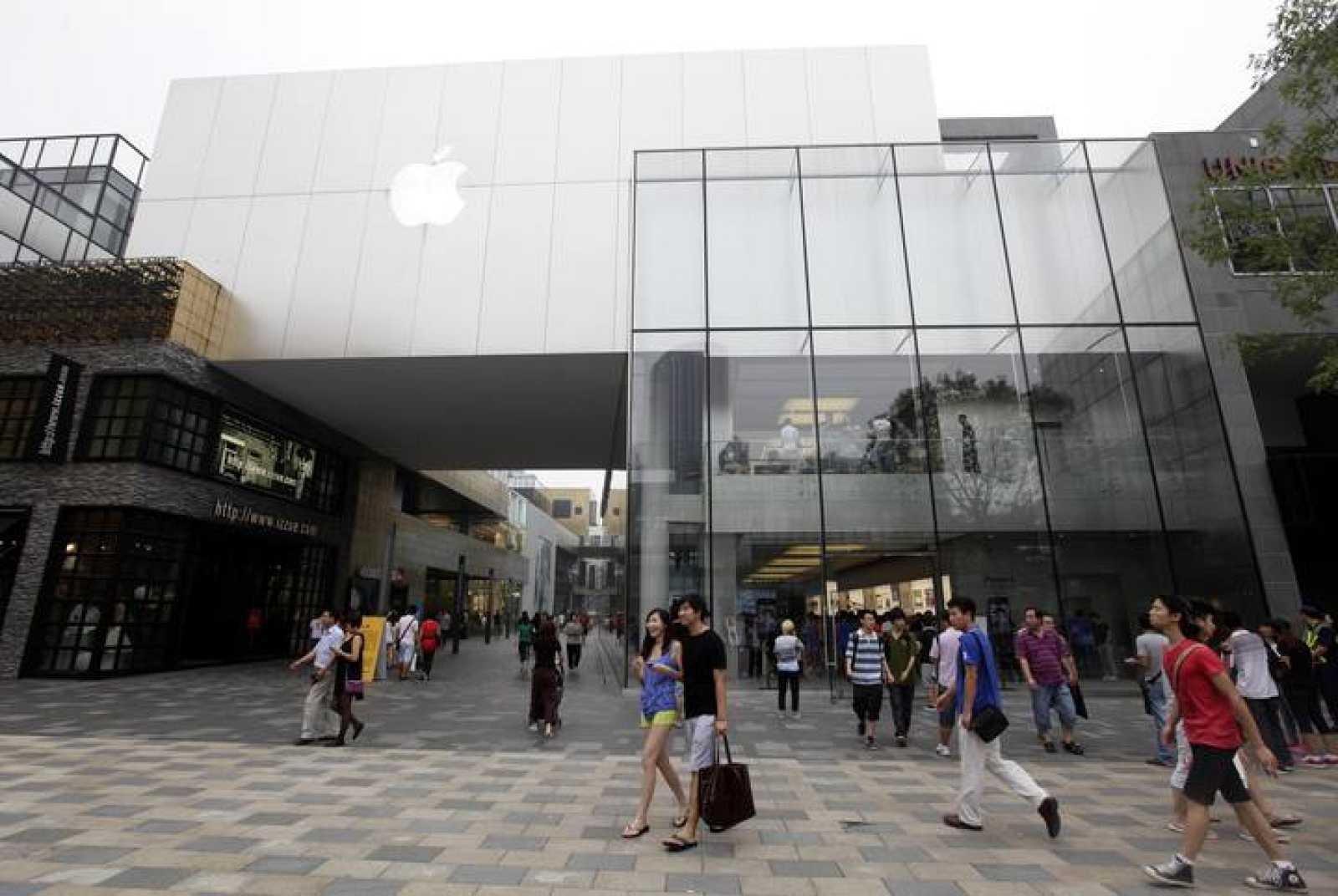 Descubren una sexta falsa tienda de apple en China