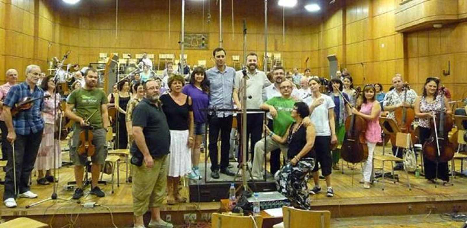 Grabando la banda sonora de 'Lobos de Arga' en Bulgaria
