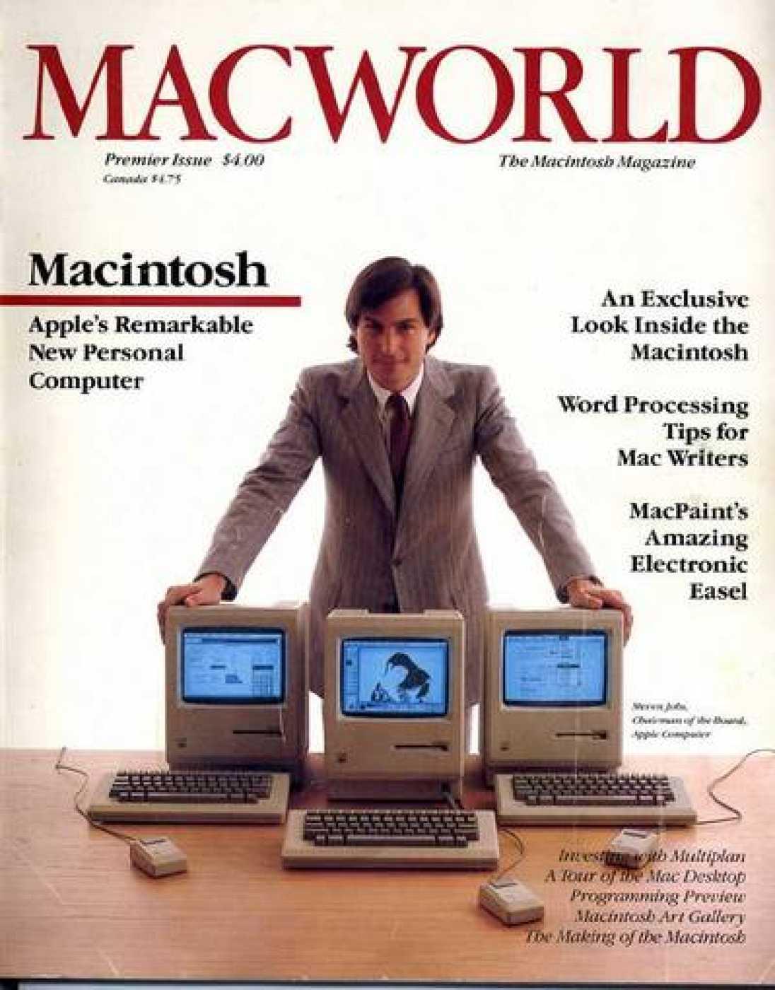Ejemplar de la revista MacWorld en 1984, año de la presentación del primer Macintosh