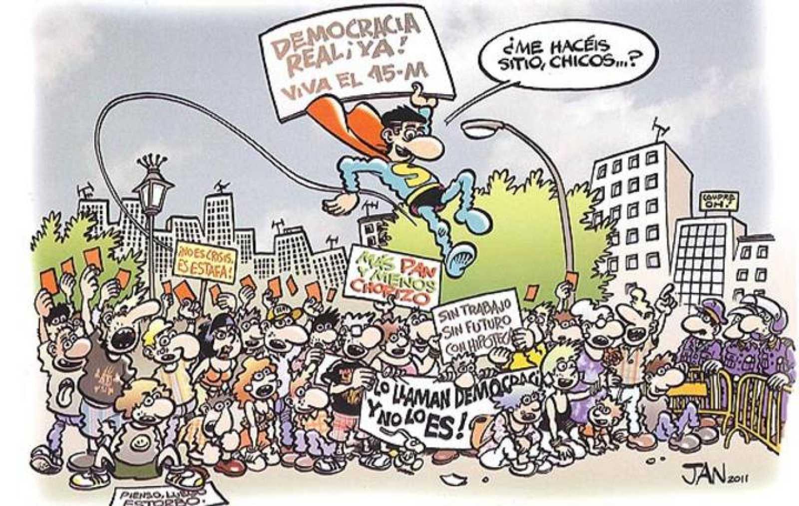 Ilustración de Jan para el cómic colectivo 'Yes we camp!'