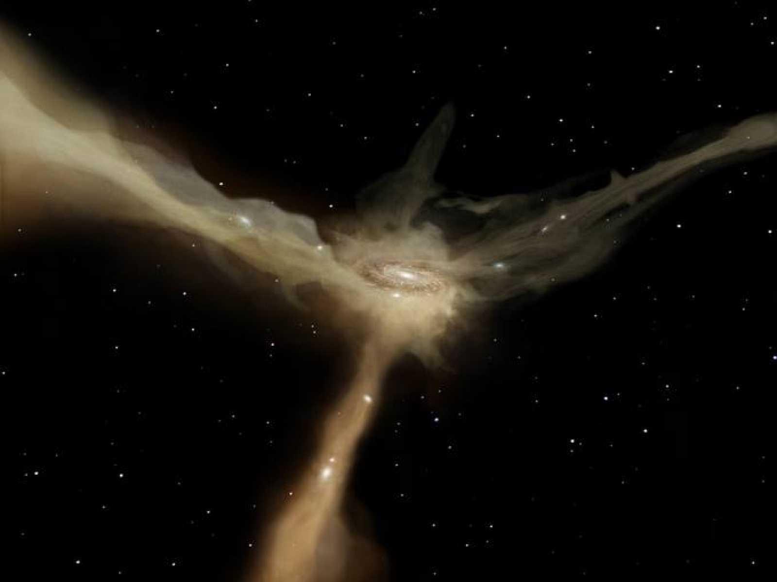 El Herschel descubre que las galaxias no necesitan chocar para crear estrellas