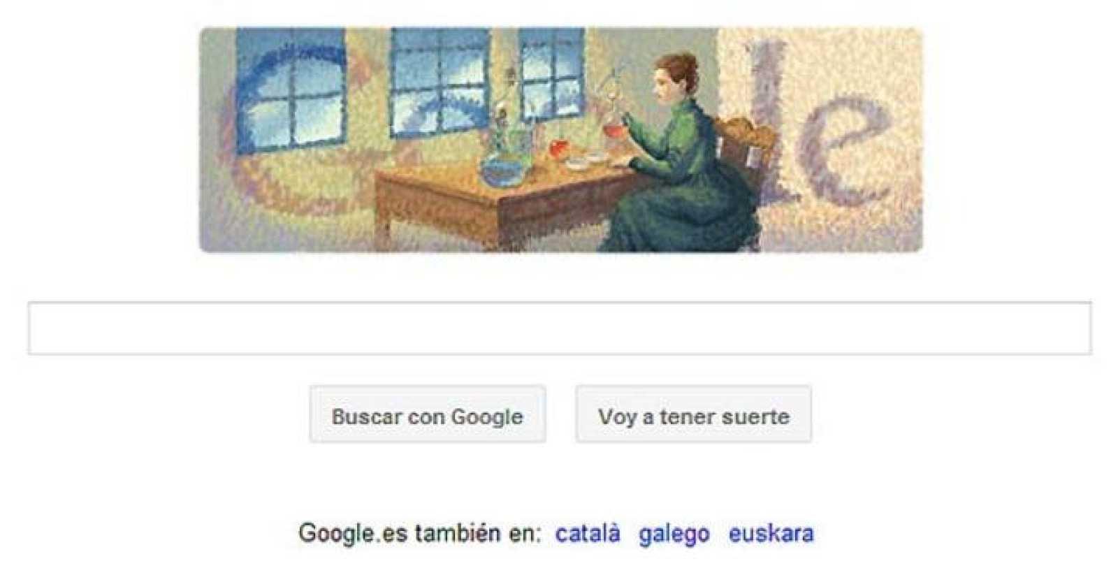 El 'doodle' de Google rinde homenaje a una de las científicas más prestigiosas del mundo, Marie Curie