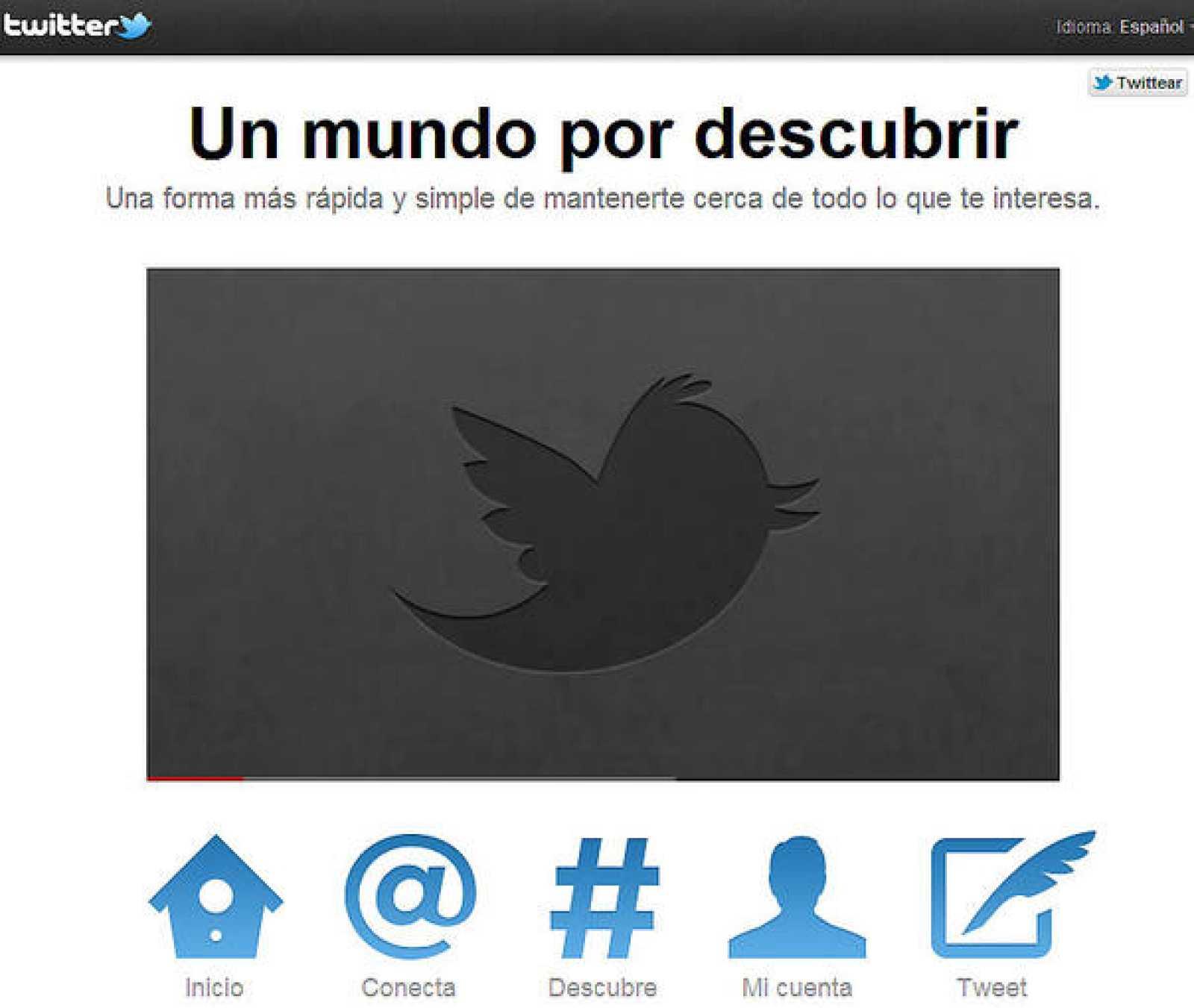 Twitter ha reducido los botones para facilitar la navegación del usuario