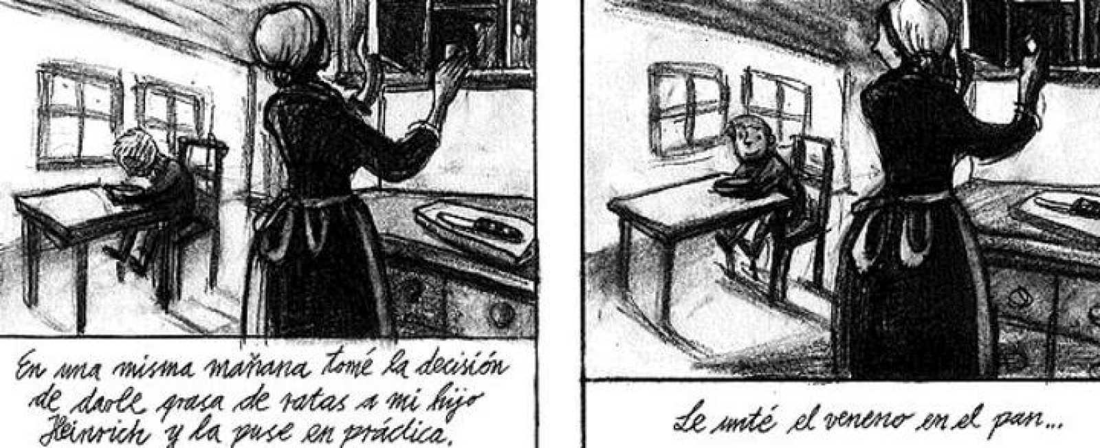 Viñetas de 'Veneno', de Peer Meter y Barbara Yelin