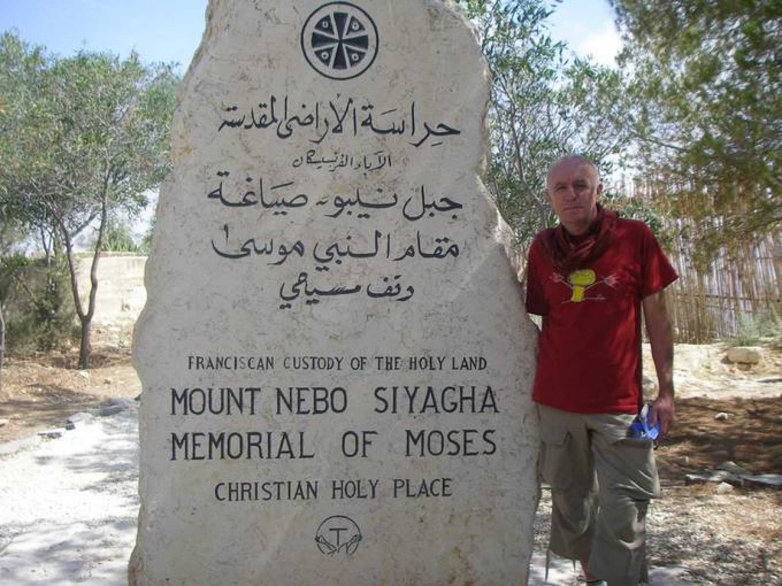 Miguel Blanco en el Monte Nebo (Jordania)