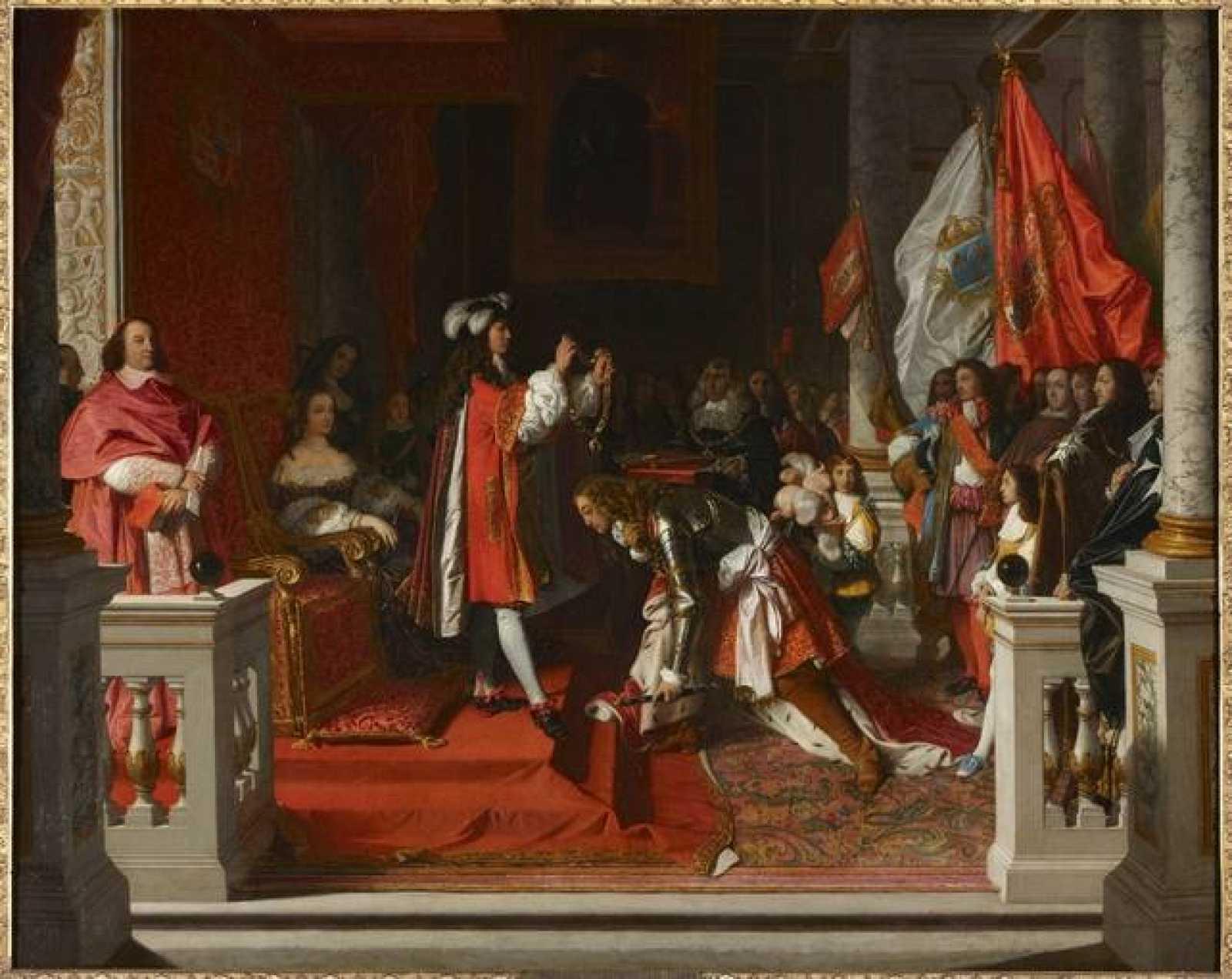 Felipe V impone el Toisón de oro al Duque de Berwick. Jean Auguste Dominique Ingres. 1818. Óleo sobre tela. Fundación Casa de Alba