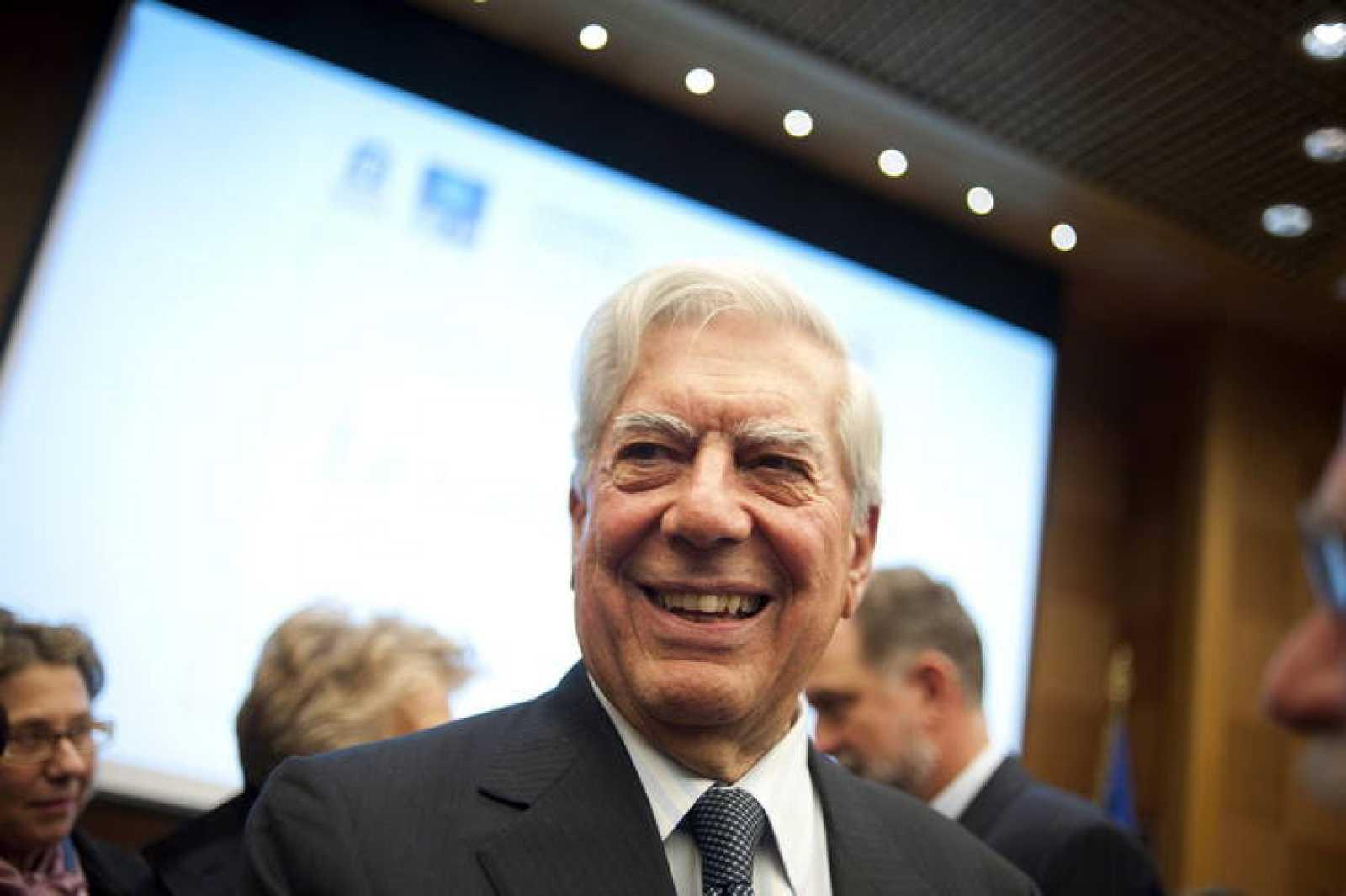 Vargas Llosa, este martes, en Roma.