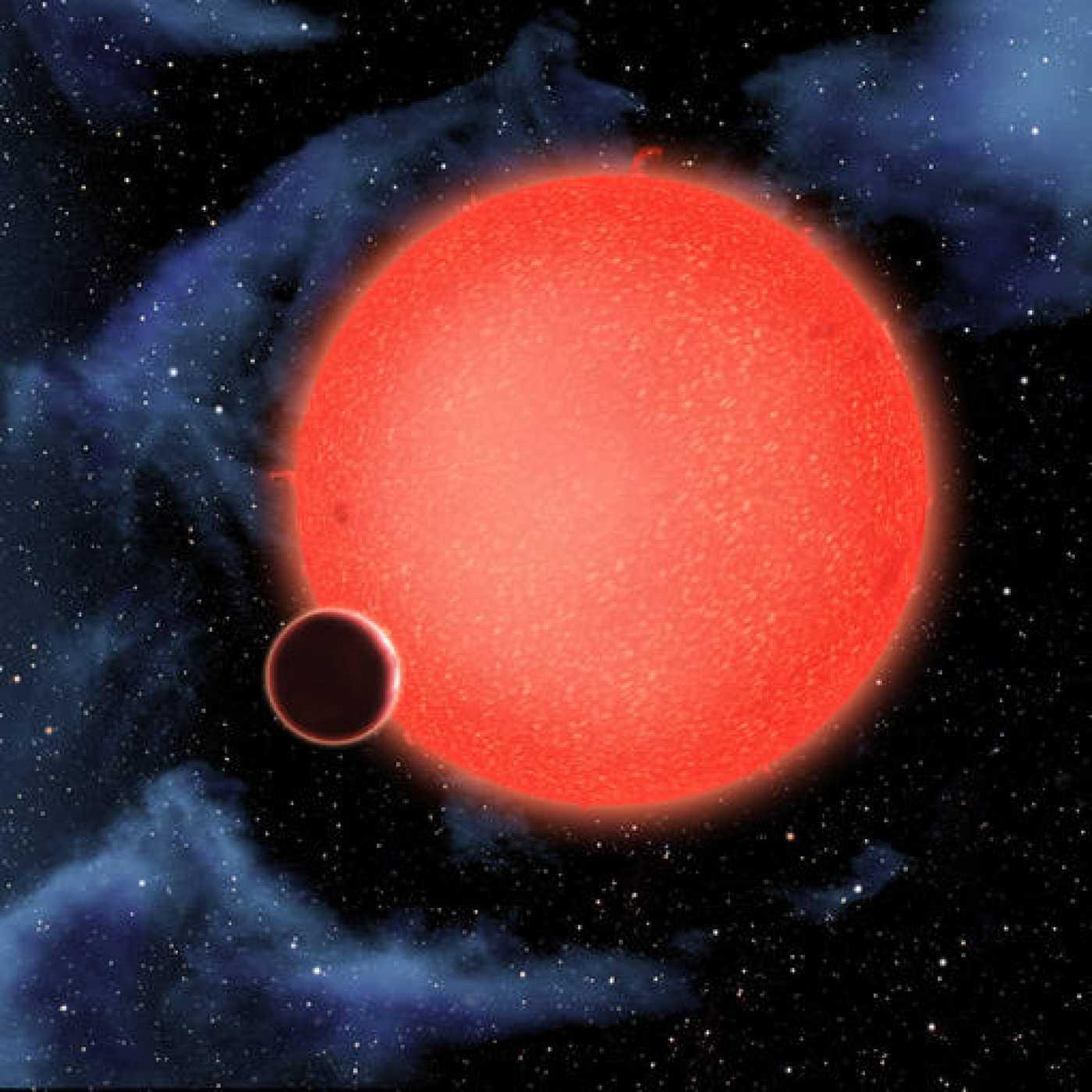 GJ1214b tiene alrededor de 2,7 veces el diámetro terrestre y pesa unas siete veces más. Orbita a una enana roja cada 38 horas a una distancia de más de 2 millones de kilómetros.