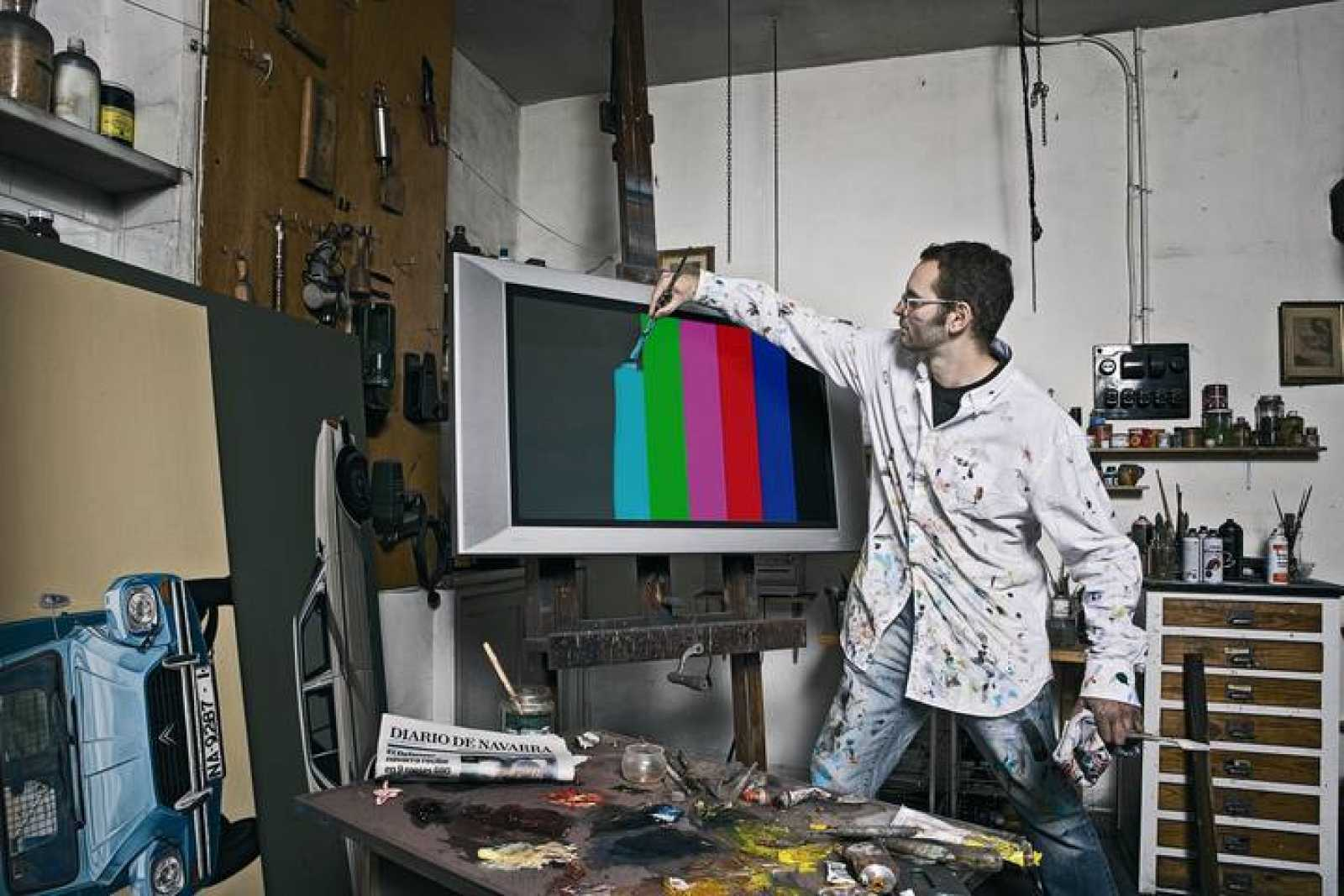 Iñaki Lazkoz, en su estudio