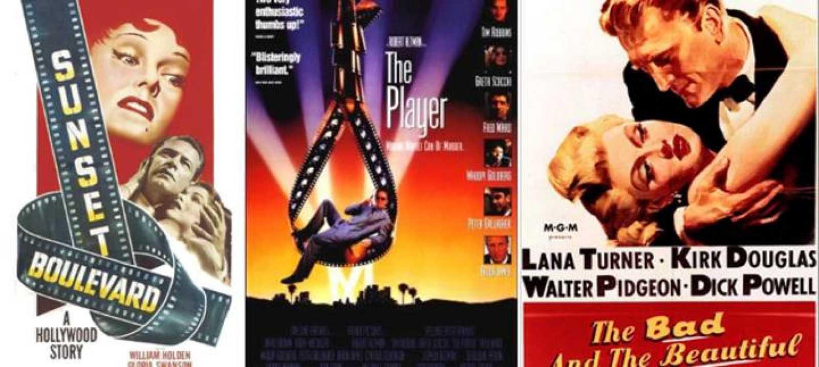 Carteles de 'El crepúsculo de los dioses', 'El juego de Hollywood' y 'Cautivos del mal'