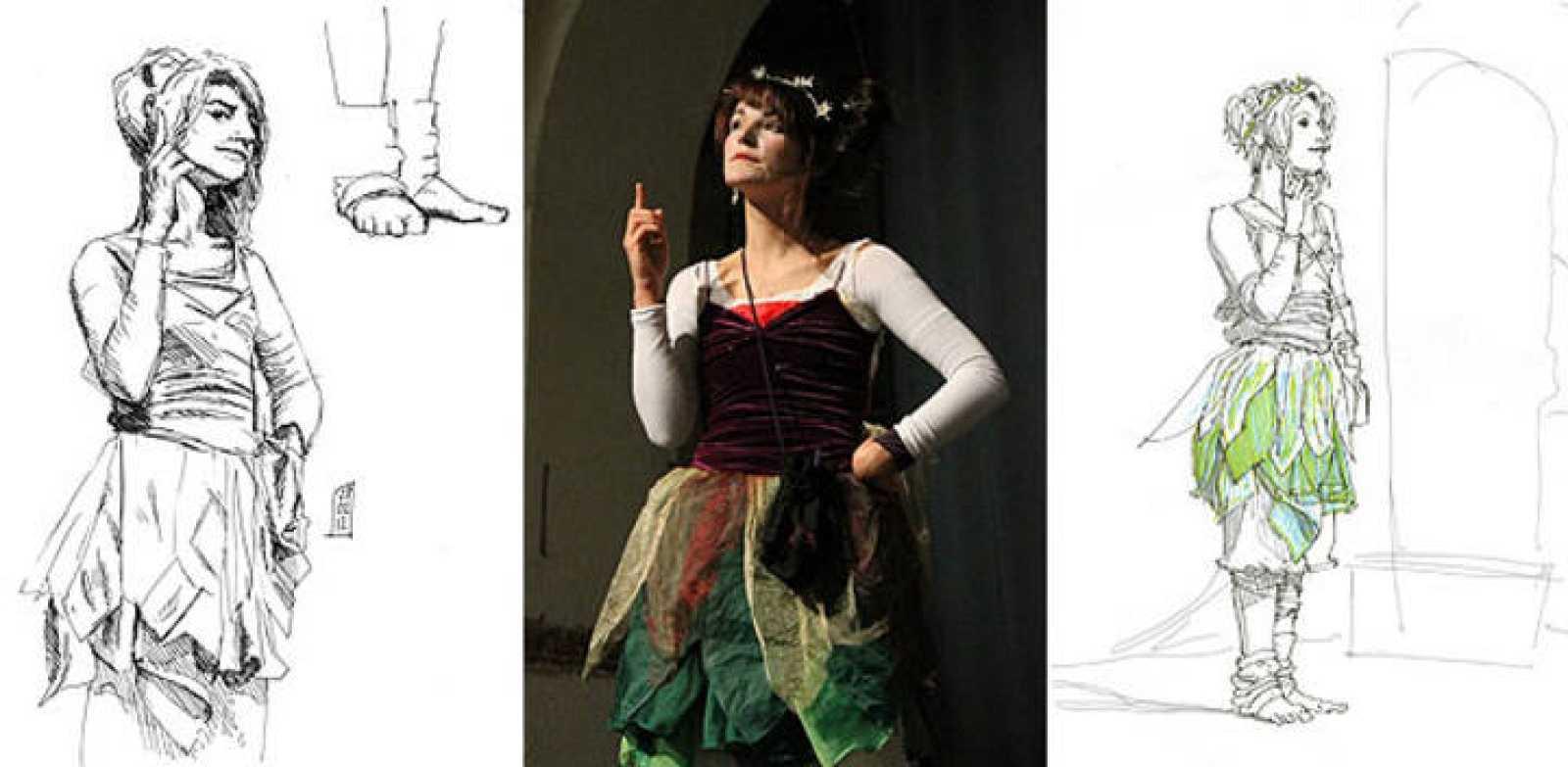 Dibujos de Víctor Zurdo y Bruno Branca y la modelo, la mimo Araceli Lozano