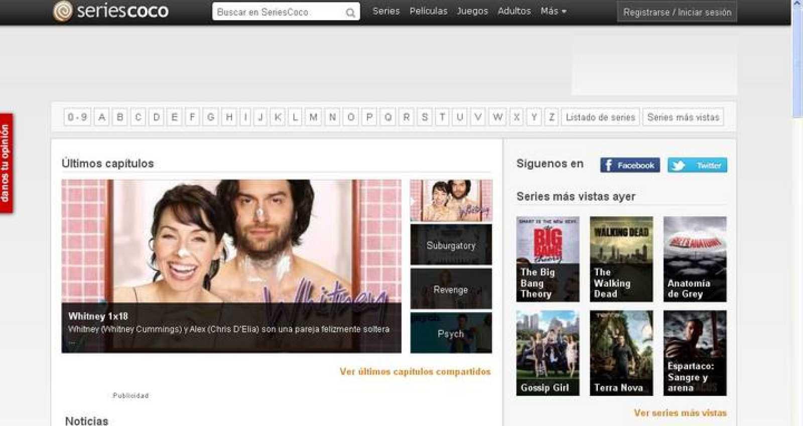 La web SeriesCoco es un clon exacto de SeriesYonkis que dirige a esta página cualquier contenido