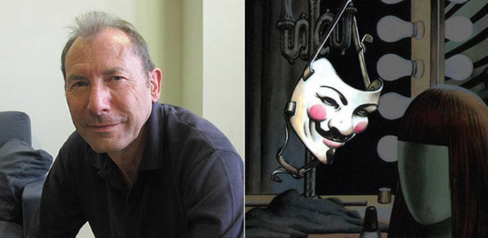 David Lloyd y la famosa máscara de 'V de vendetta'