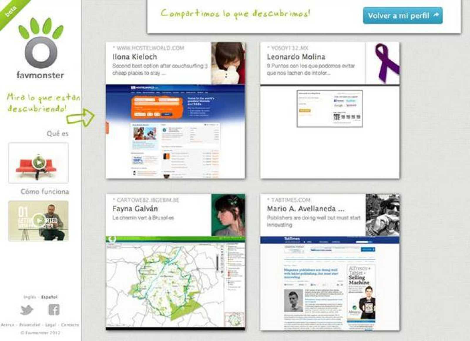Favmonster, un servicio online para guardar y compartir enlaces de Internet