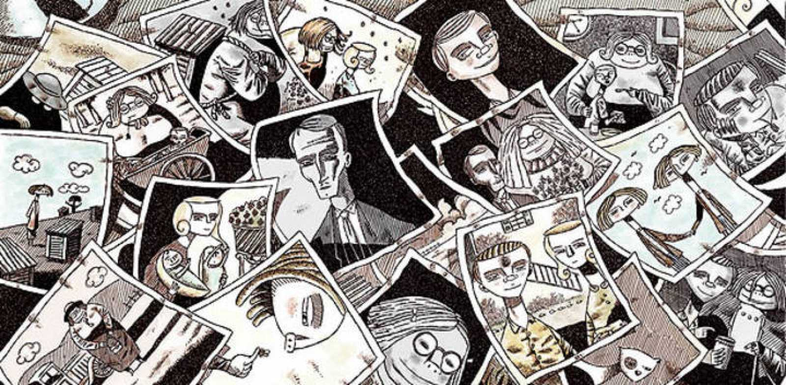 Fragmento de una ilustración de 'Una colmena en construcción', de Luis Durán