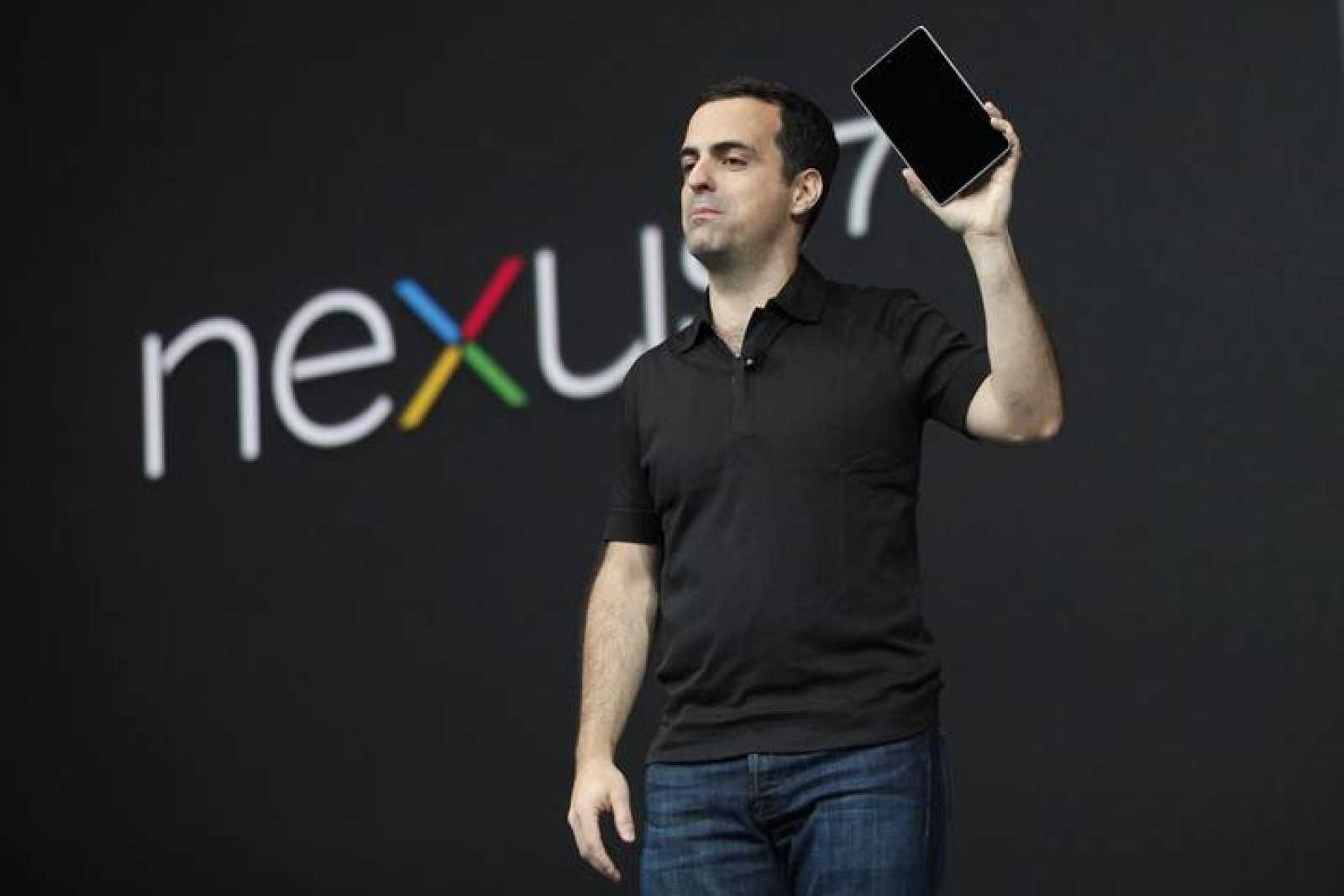 Hugo Barra, director of product management of Google, unveils Nexus 7 tablet during Google I/O 2012 Conference at Moscone Center in San Francisco