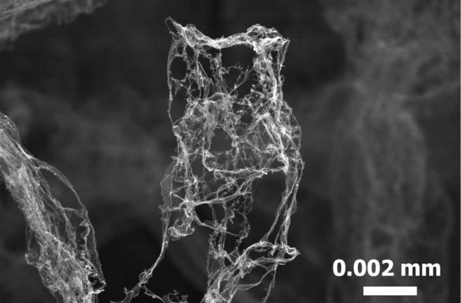El nuevo material está compuesto por una estructura tridimensional de tubos de carbono